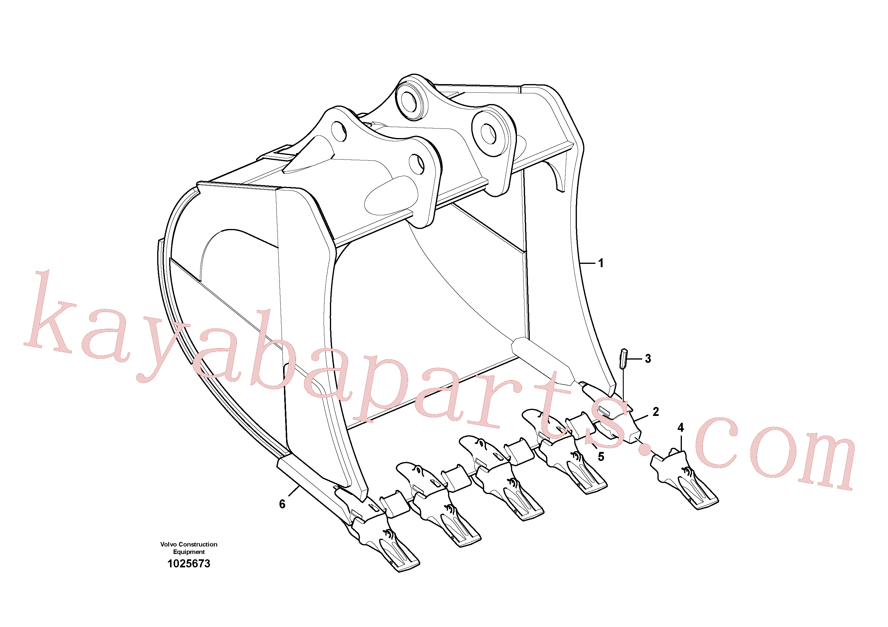 VOE14538469 for Volvo Bucket(1025673 assembly)