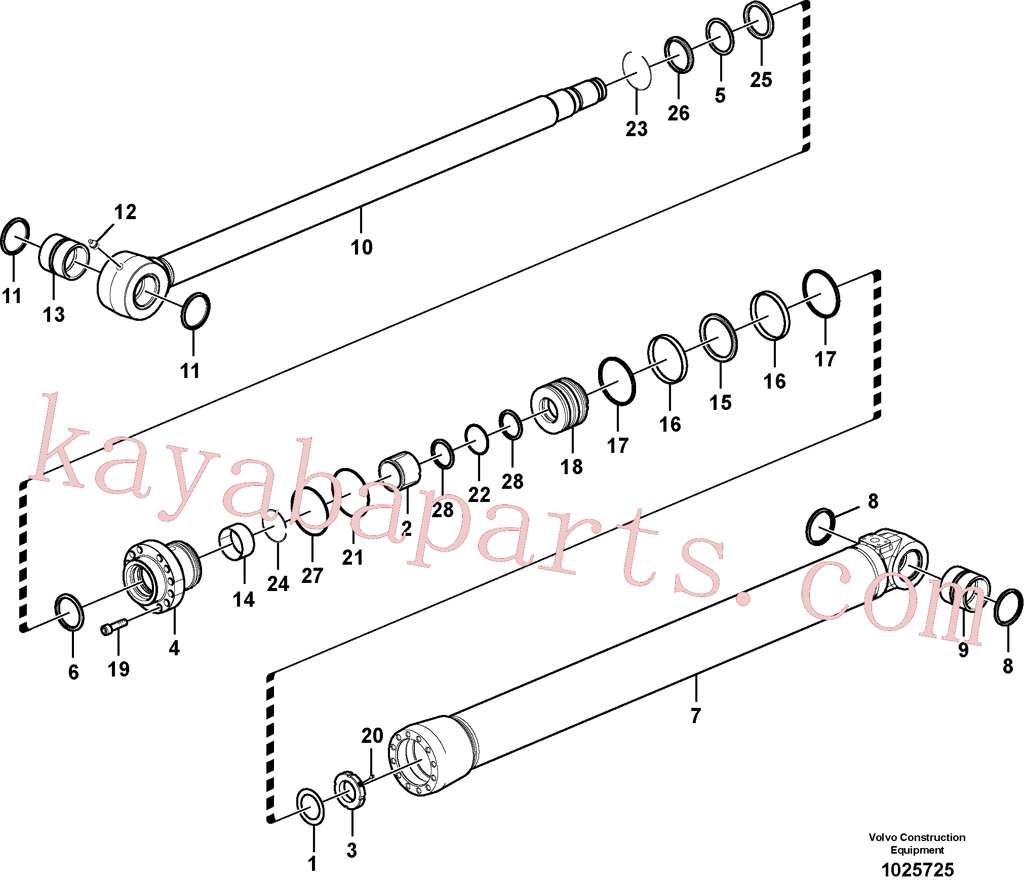 VOE14512072 for Volvo Bucket cylinder(1025725 assembly)