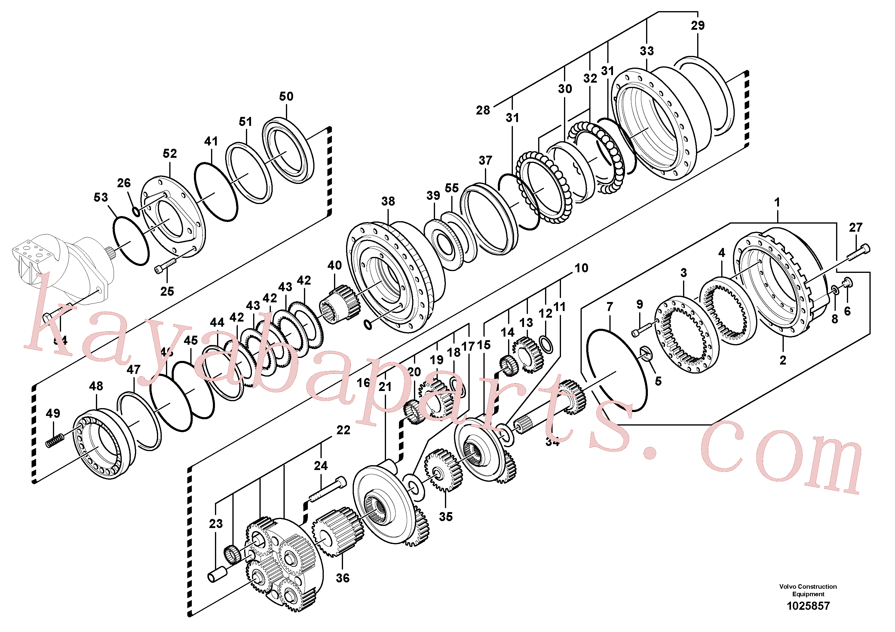 VOE14541738 for Volvo Travel gearbox(1025857 assembly)