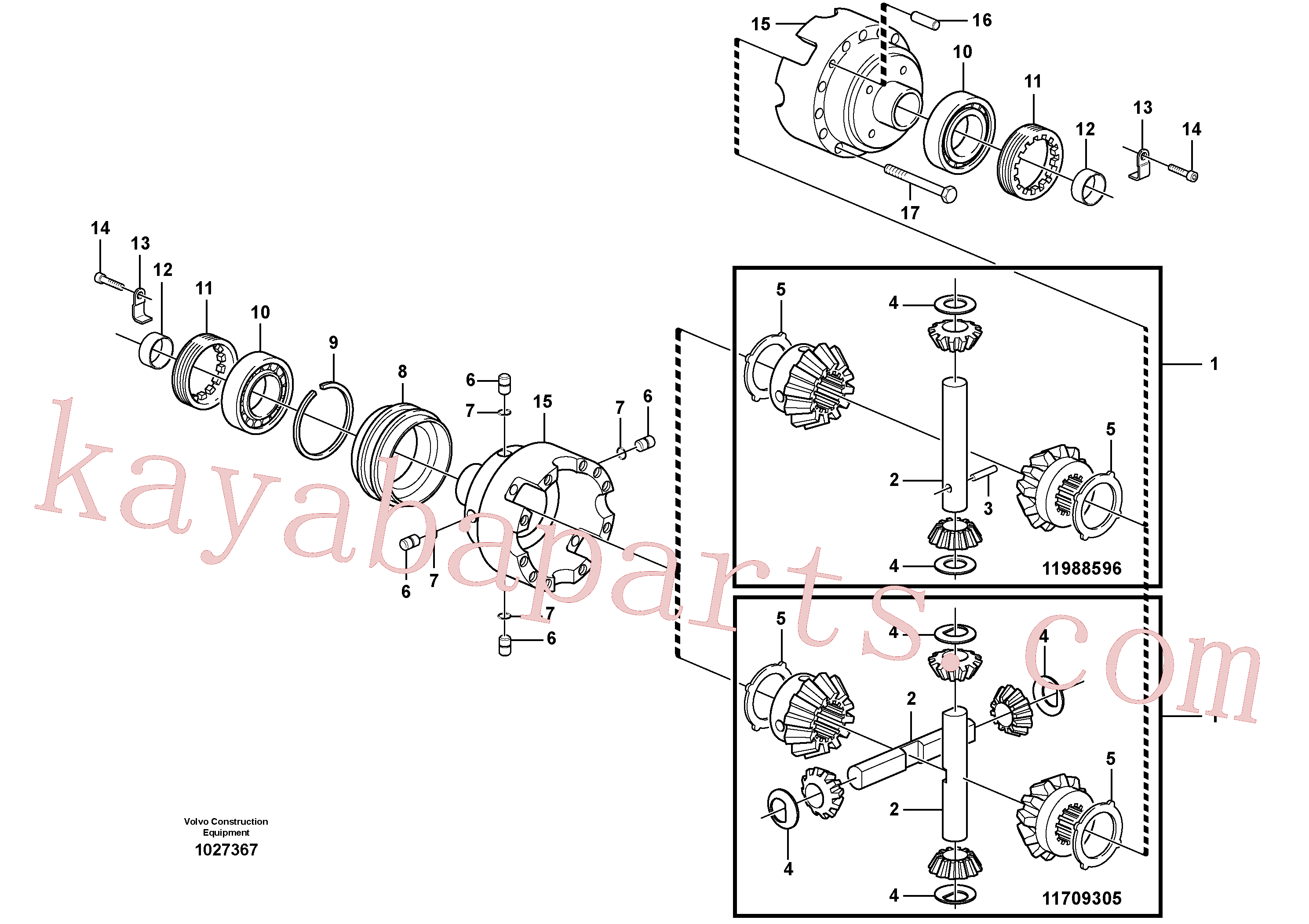 VOE11988604 for Volvo Differential. Rear(1027367 assembly)
