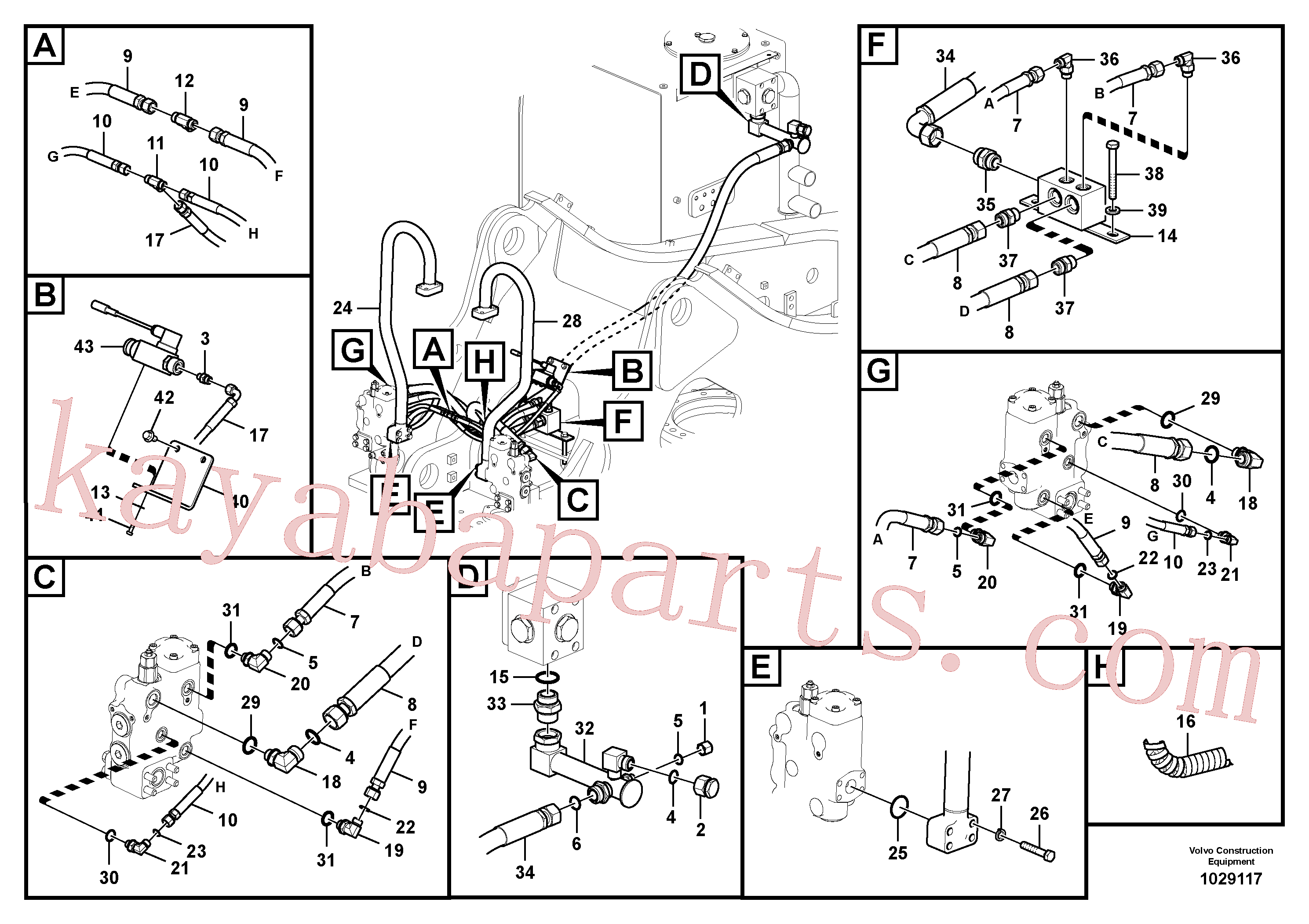 VOE937630 for Volvo Working hydraulic, boom rupture(1029117 assembly)