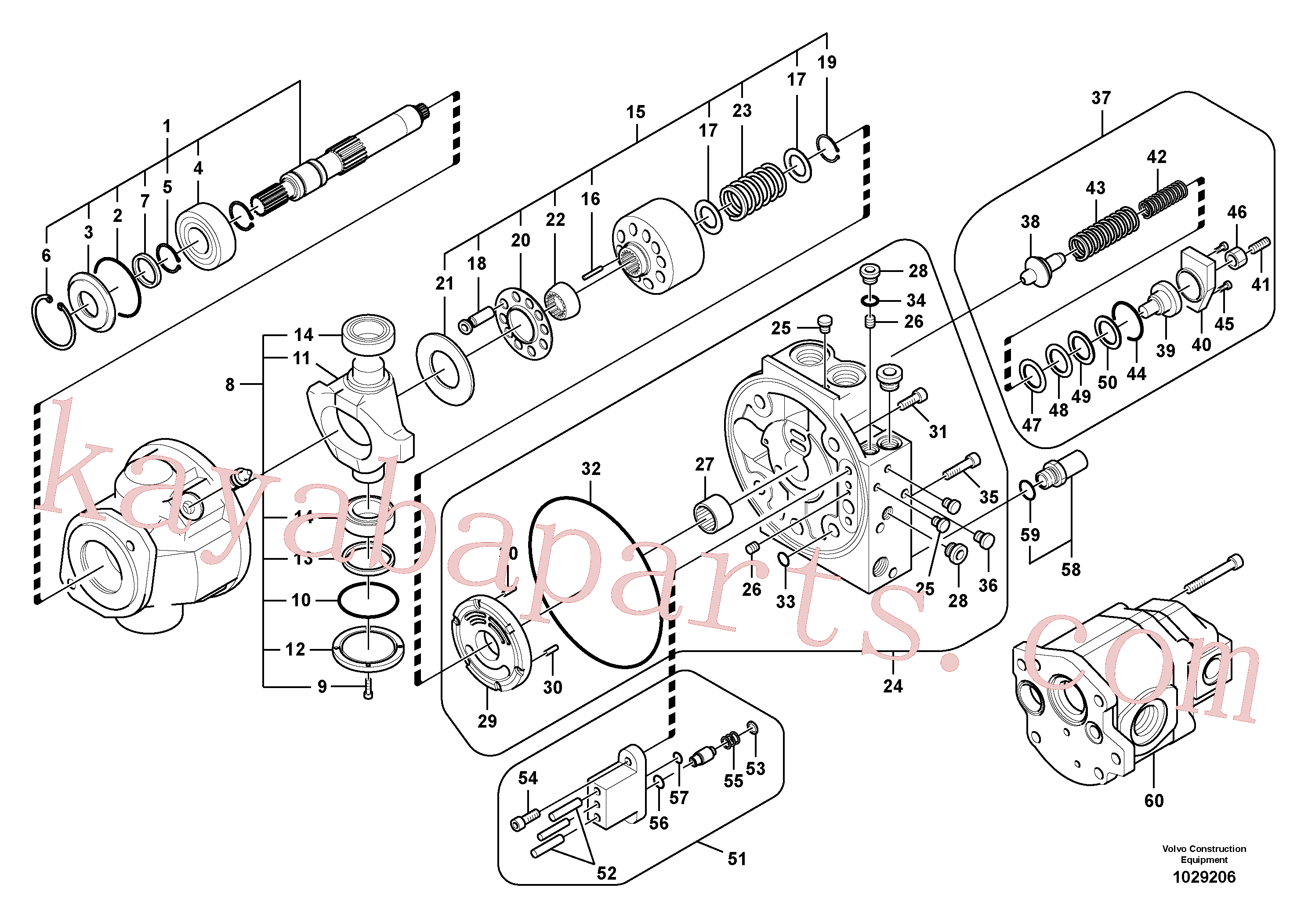 SA8230-06960 for Volvo Hydraulic pump(1029206 assembly)