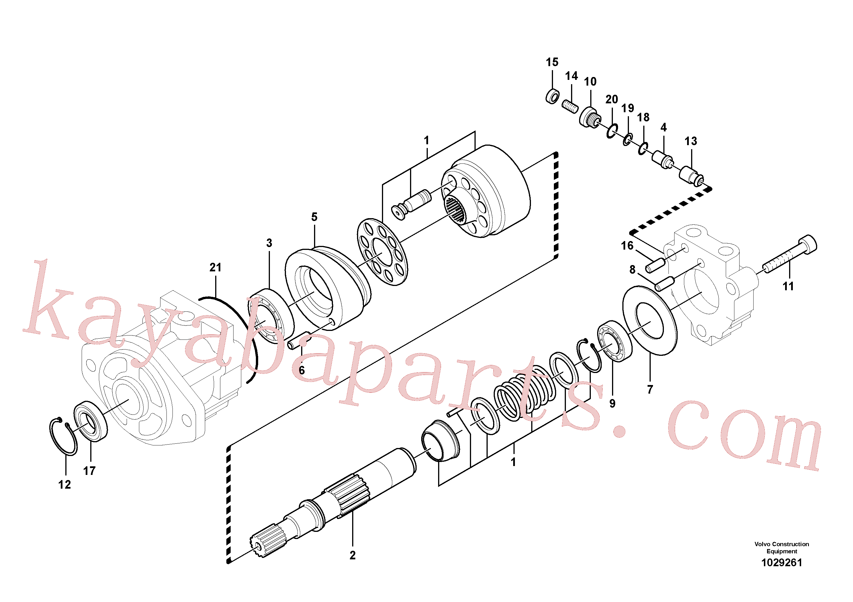 VOE14537414 for Volvo Hydraulic system, oil cooling fan motor(1029261 assembly)