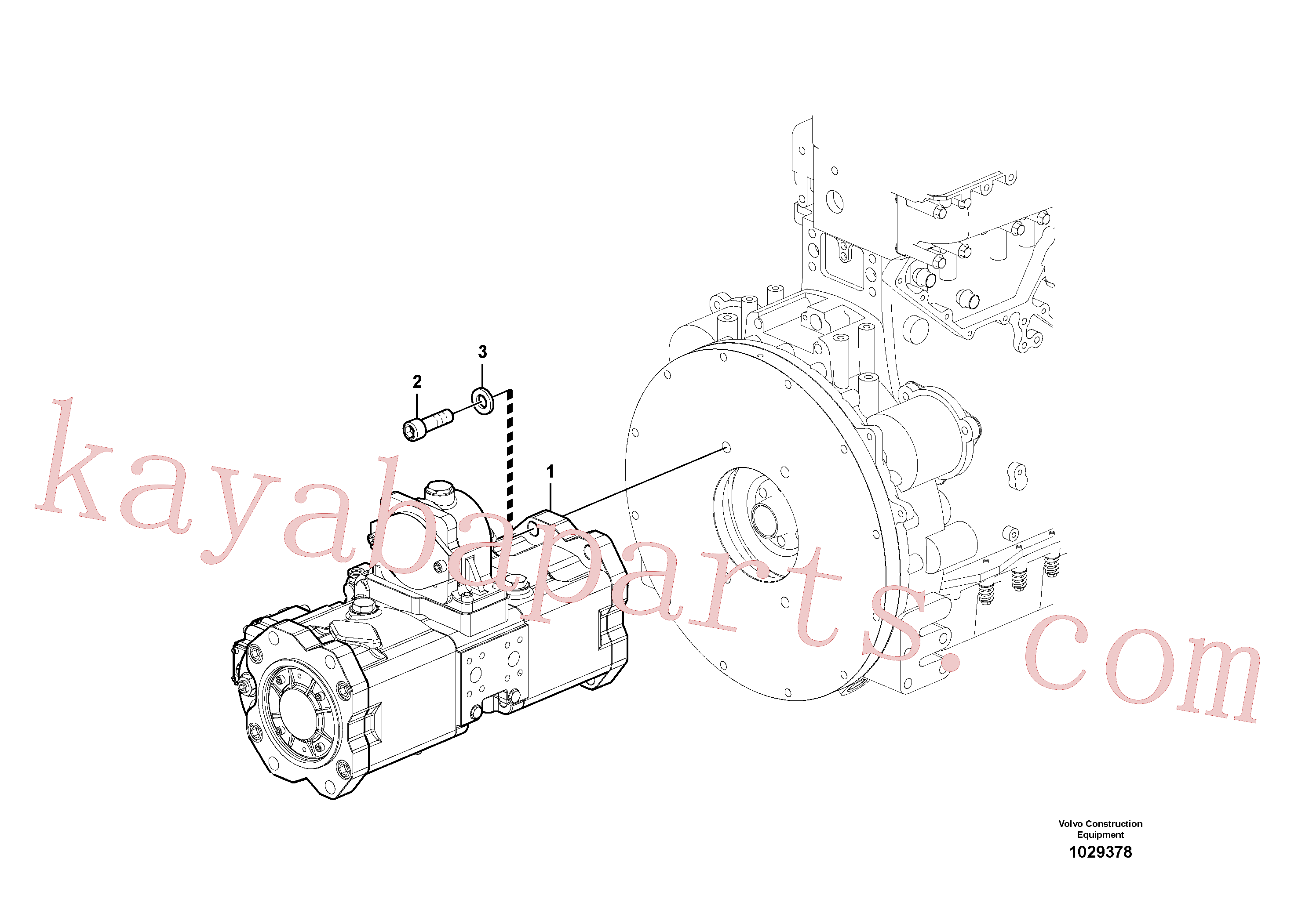 VOE14596499 for Volvo Pump installation(1029378 assembly)