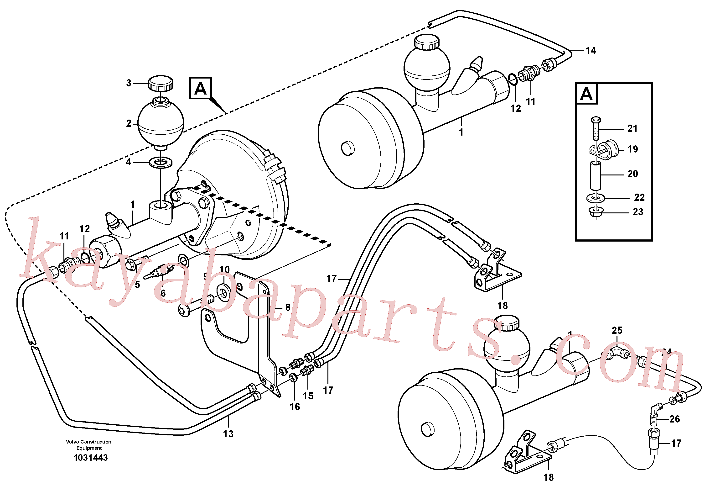 VOE11883022 for Volvo Hydraulic brake system, load unit(1031443 assembly)