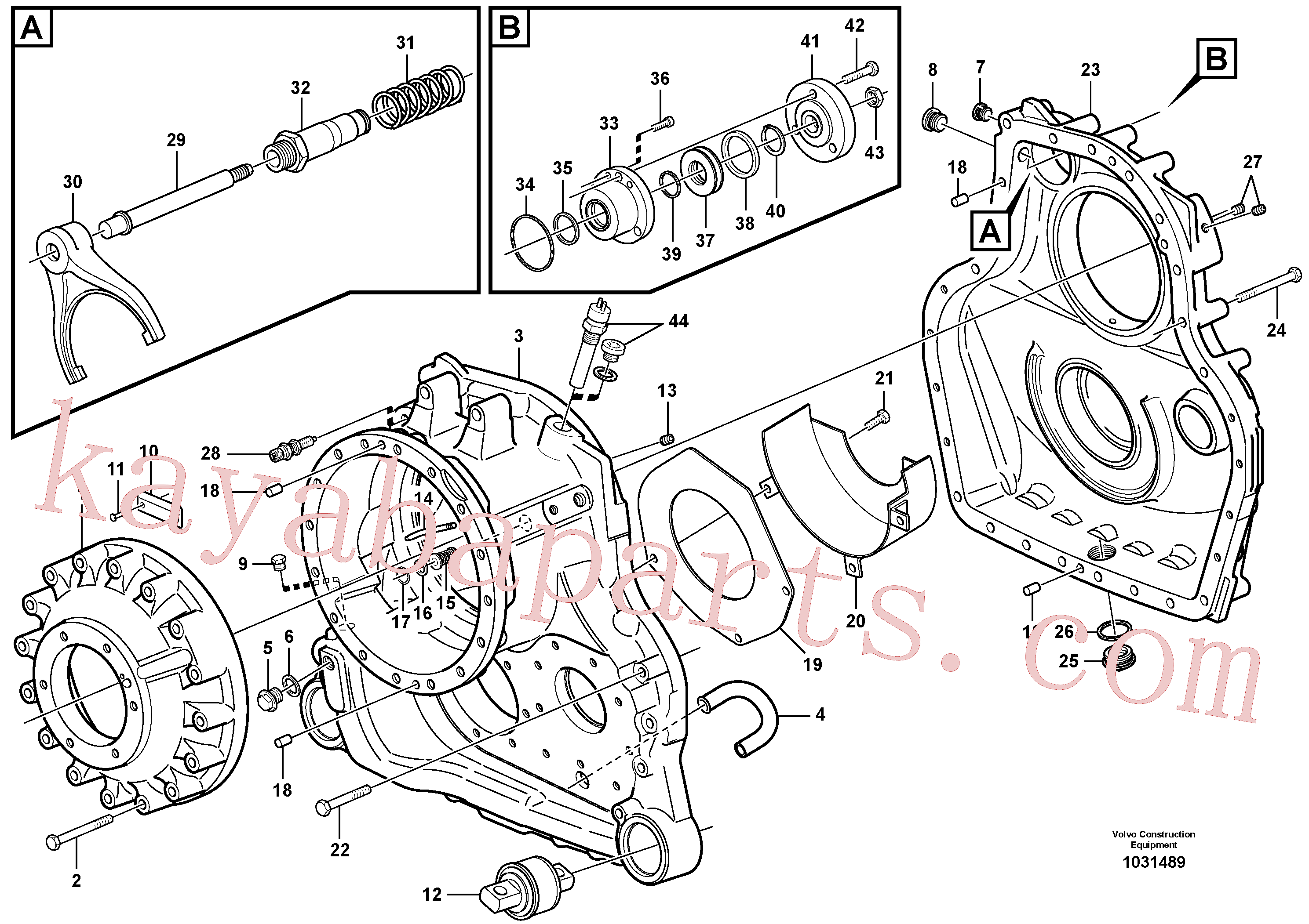 VOE990830 for Volvo Transfer gear box(1031489 assembly)