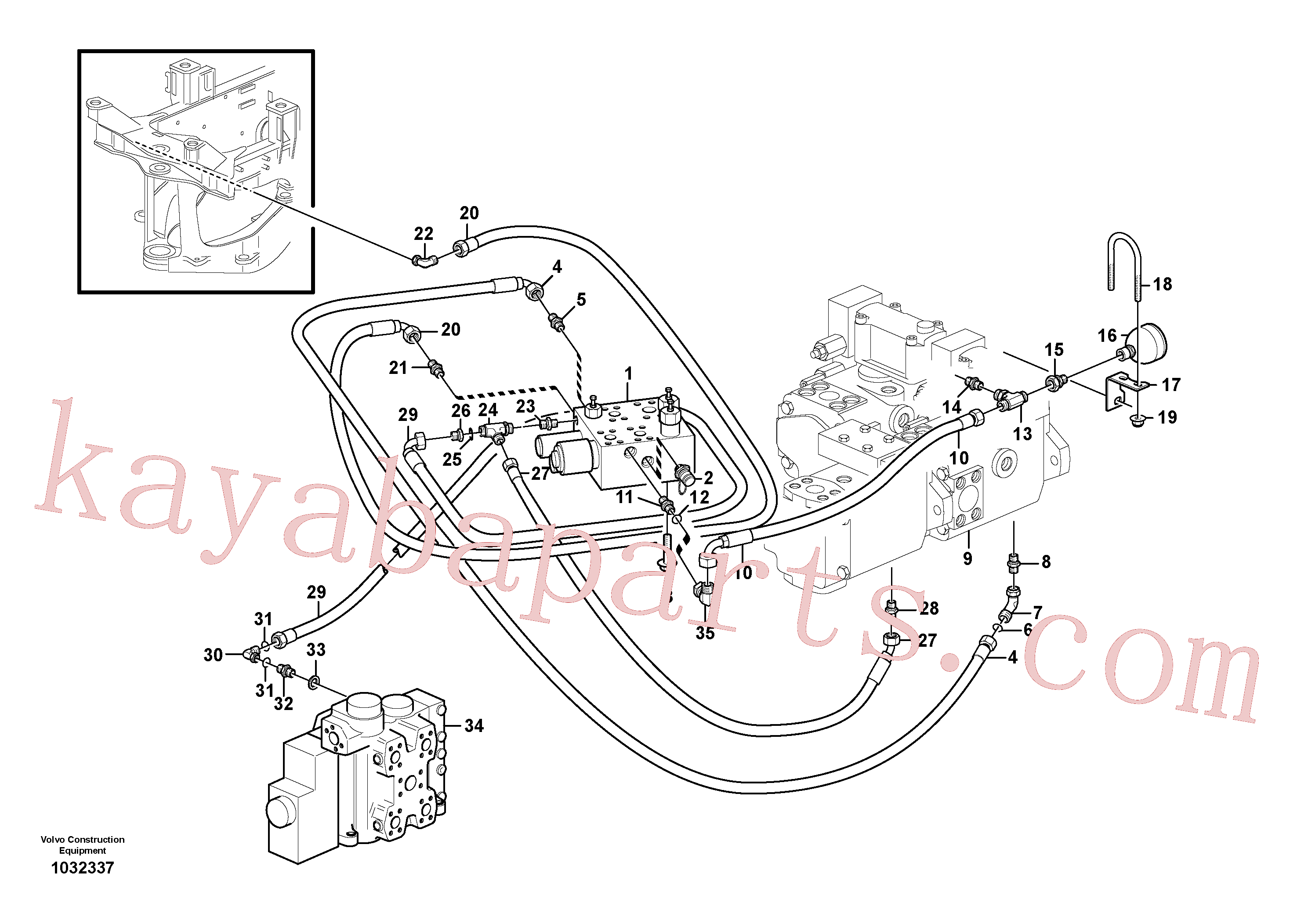 RM59929984 for Volvo Load sensing line(1032337 assembly)