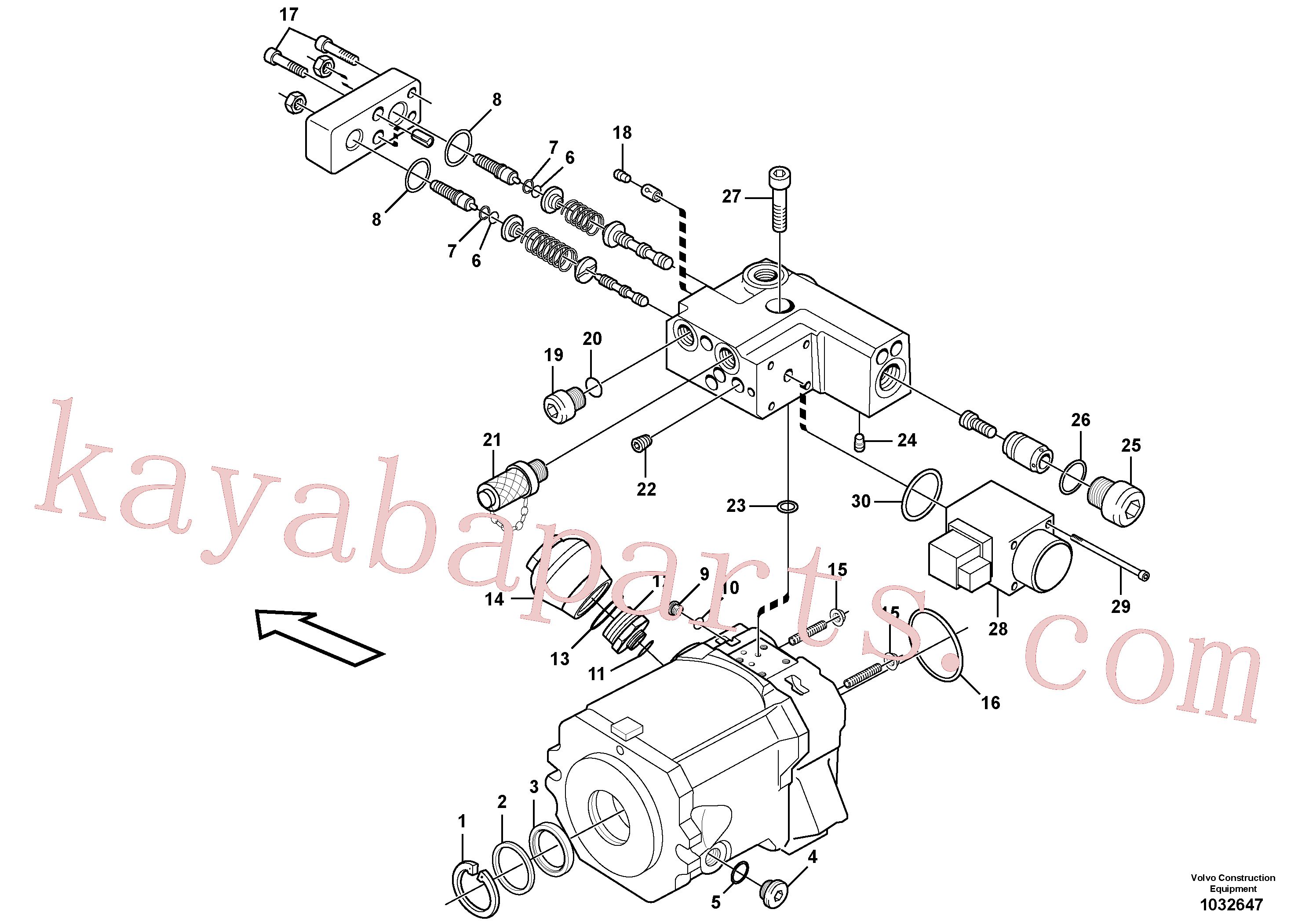 VOE11704910 for Volvo Pump(1032647 assembly)