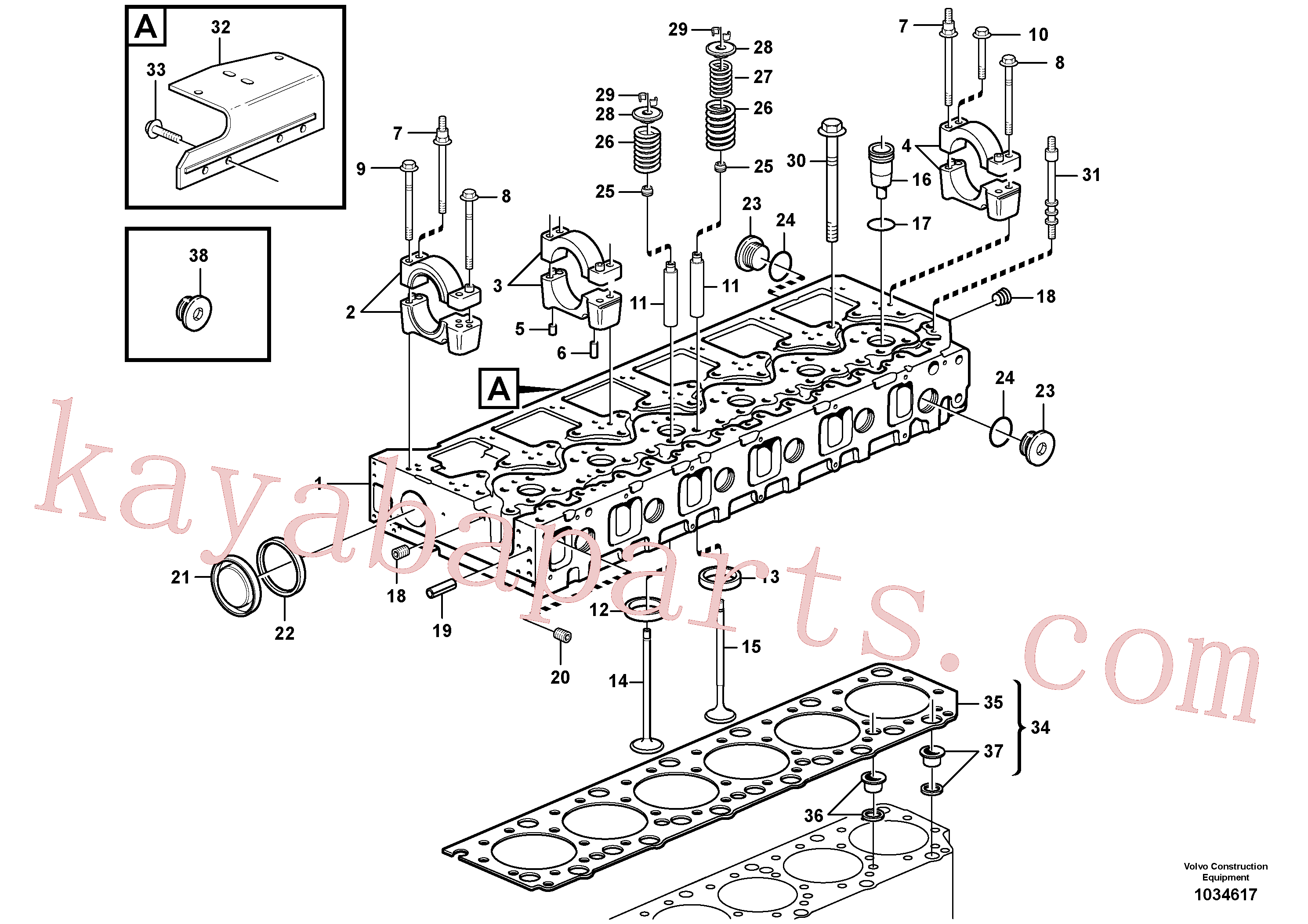 VOE990830 for Volvo Cylinder head(1034617 assembly)