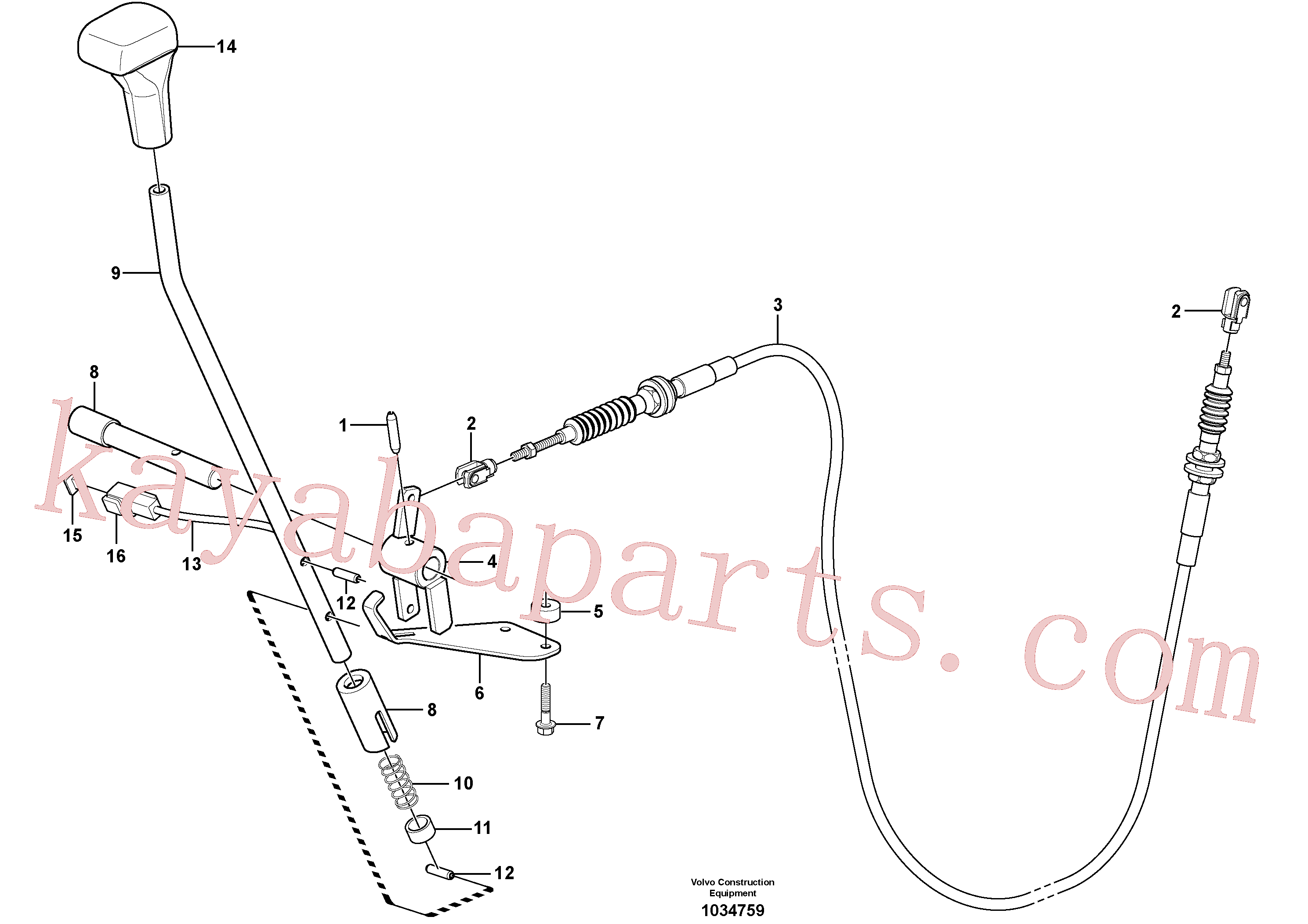 VOE15600522 for Volvo Control lever : dozer blade(1034759 assembly)