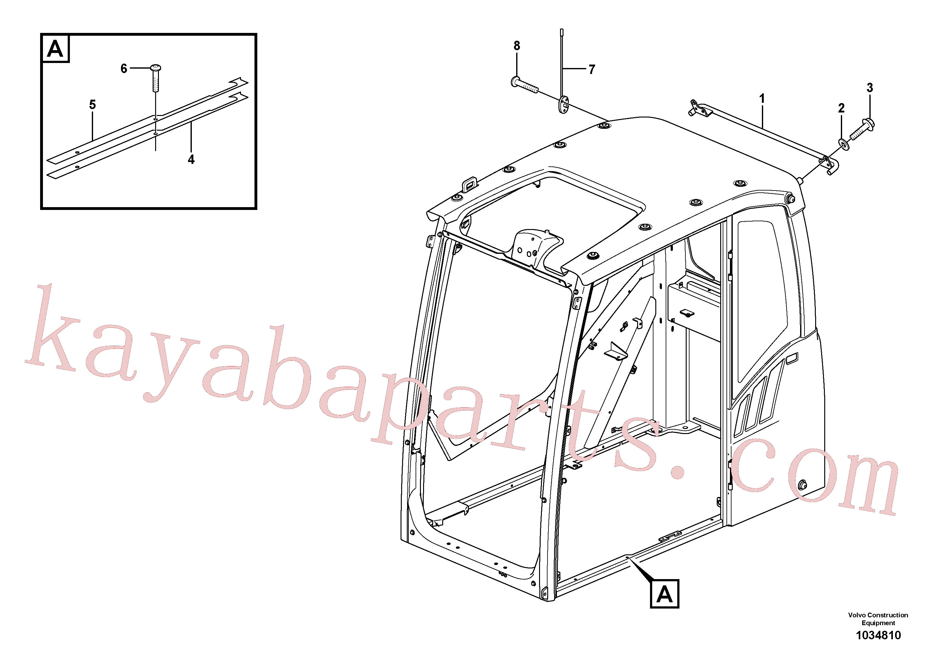 VOE13961172 for Volvo Operator's cab(1034810 assembly)