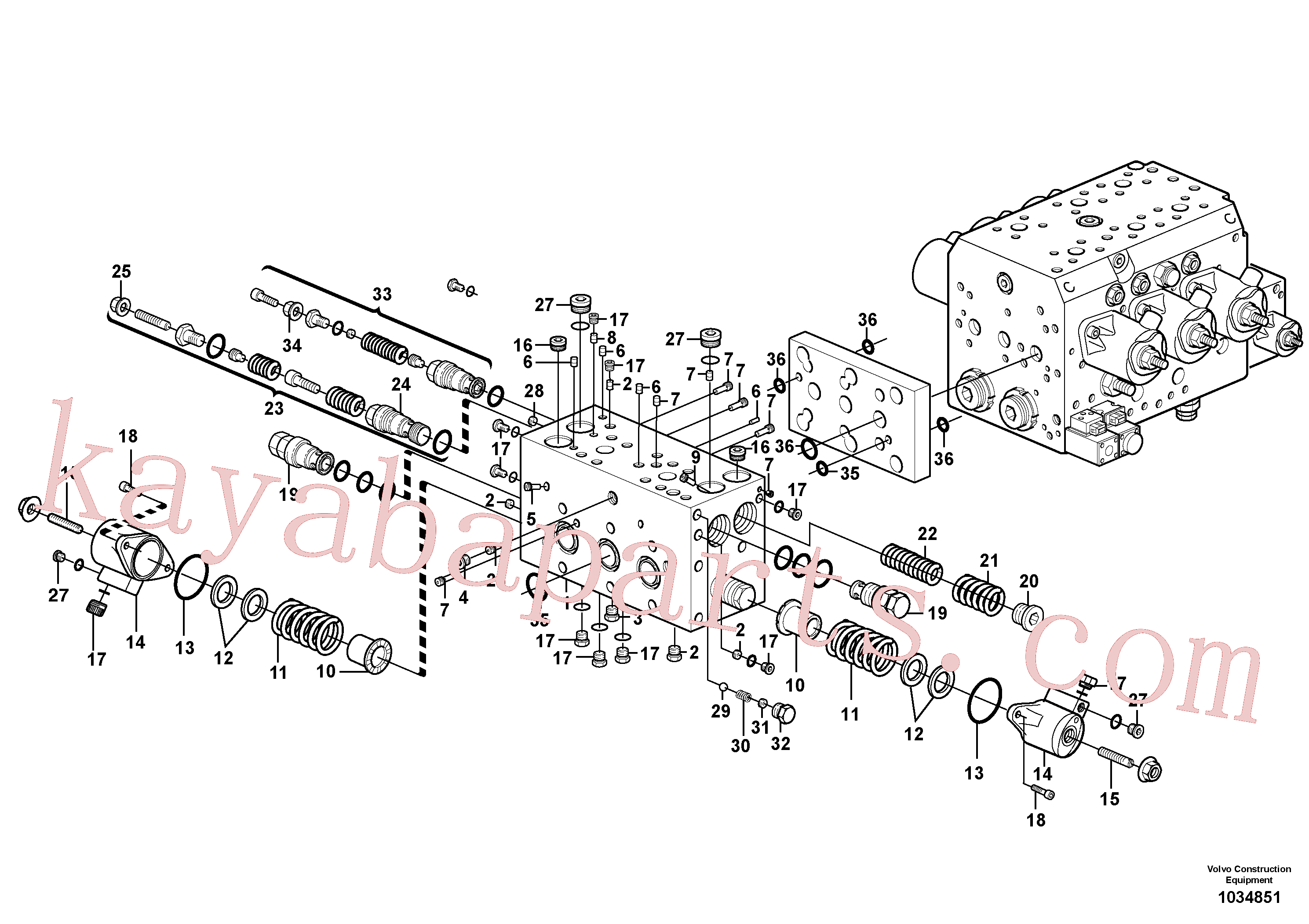 VOE11713994 for Volvo Valve(1034851 assembly)