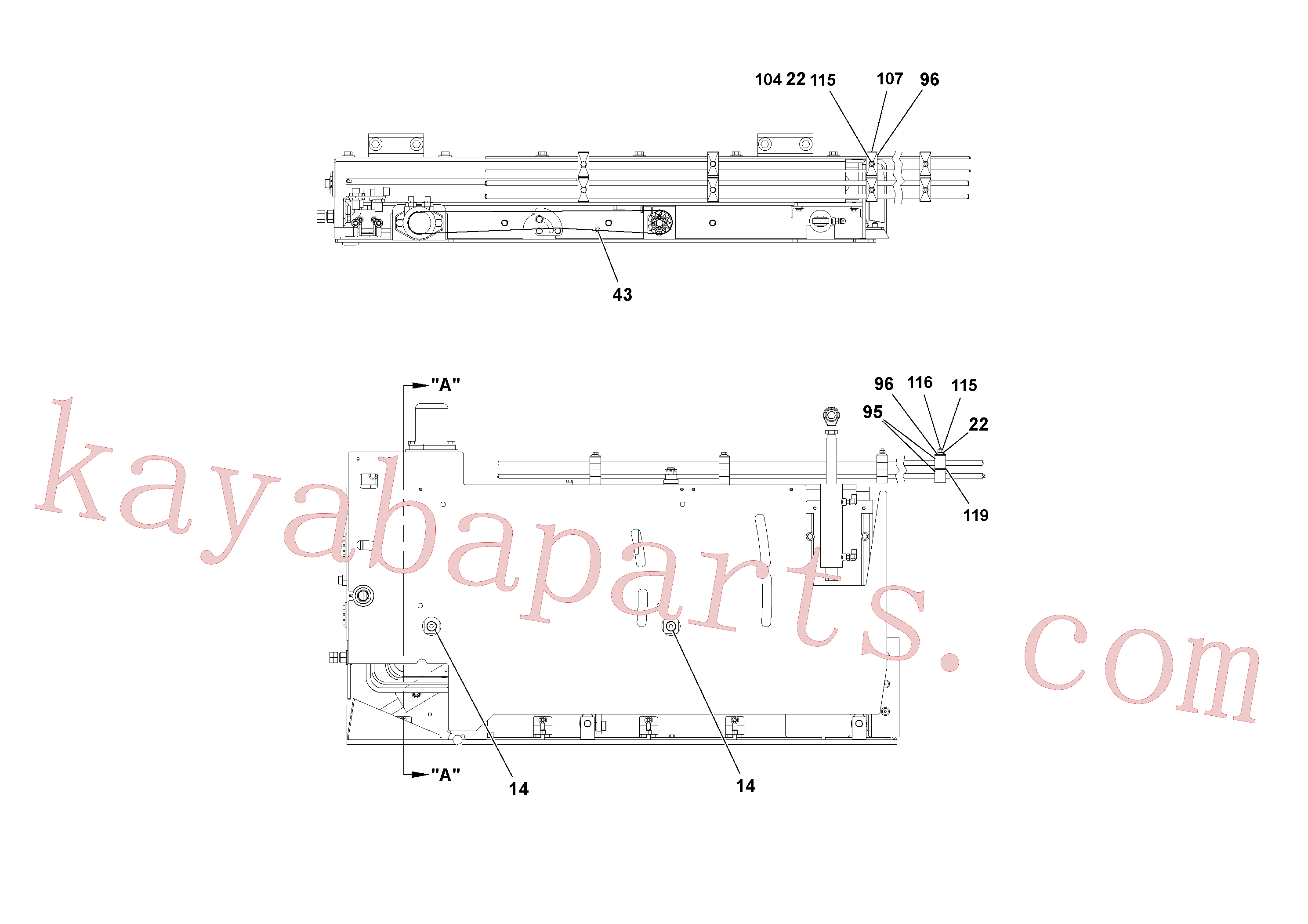 RM20342085 for Volvo 5' Extension Assembly(1036885 assembly)