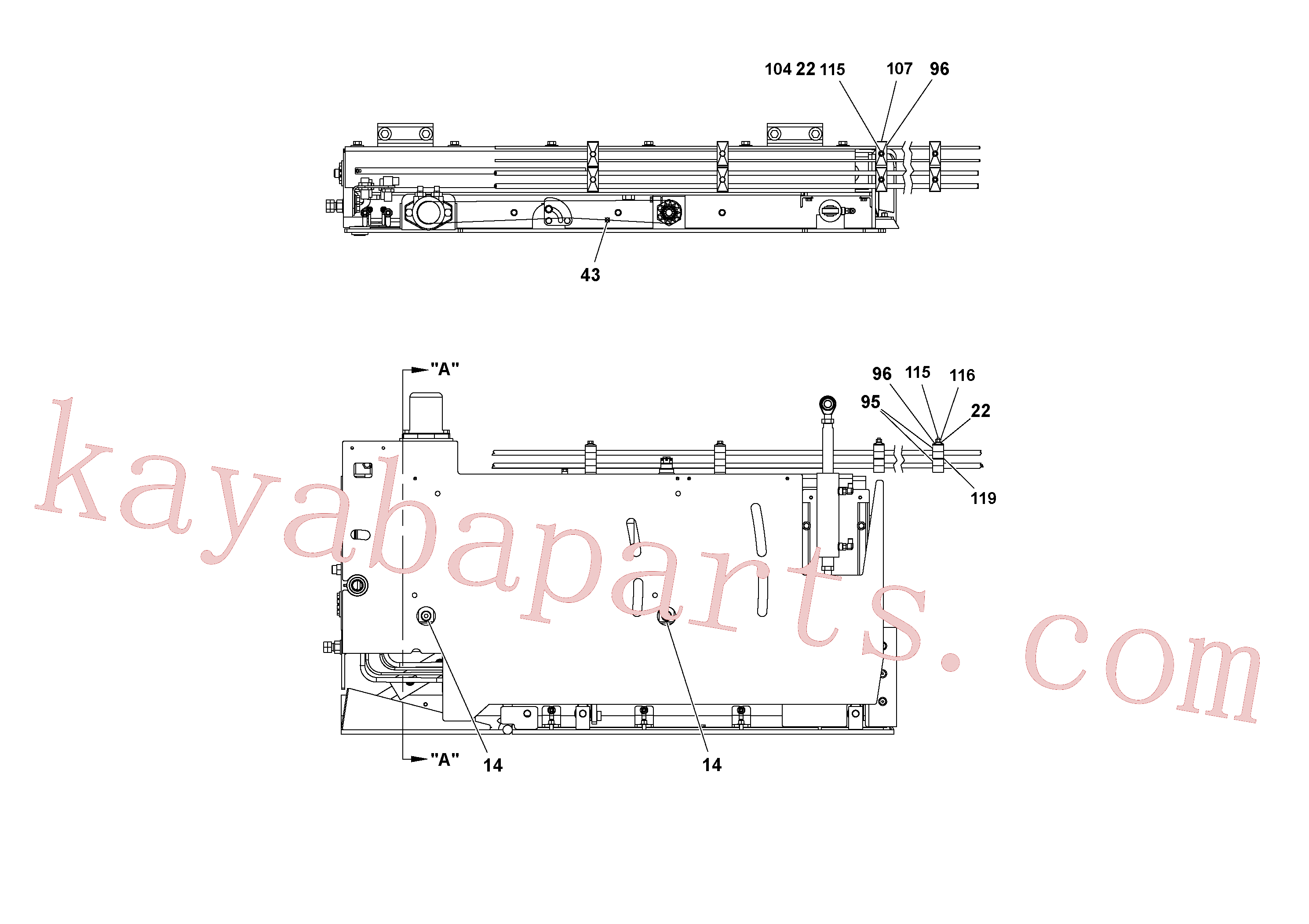 RM20342085 for Volvo 5' Extension Assembly(1036983 assembly)