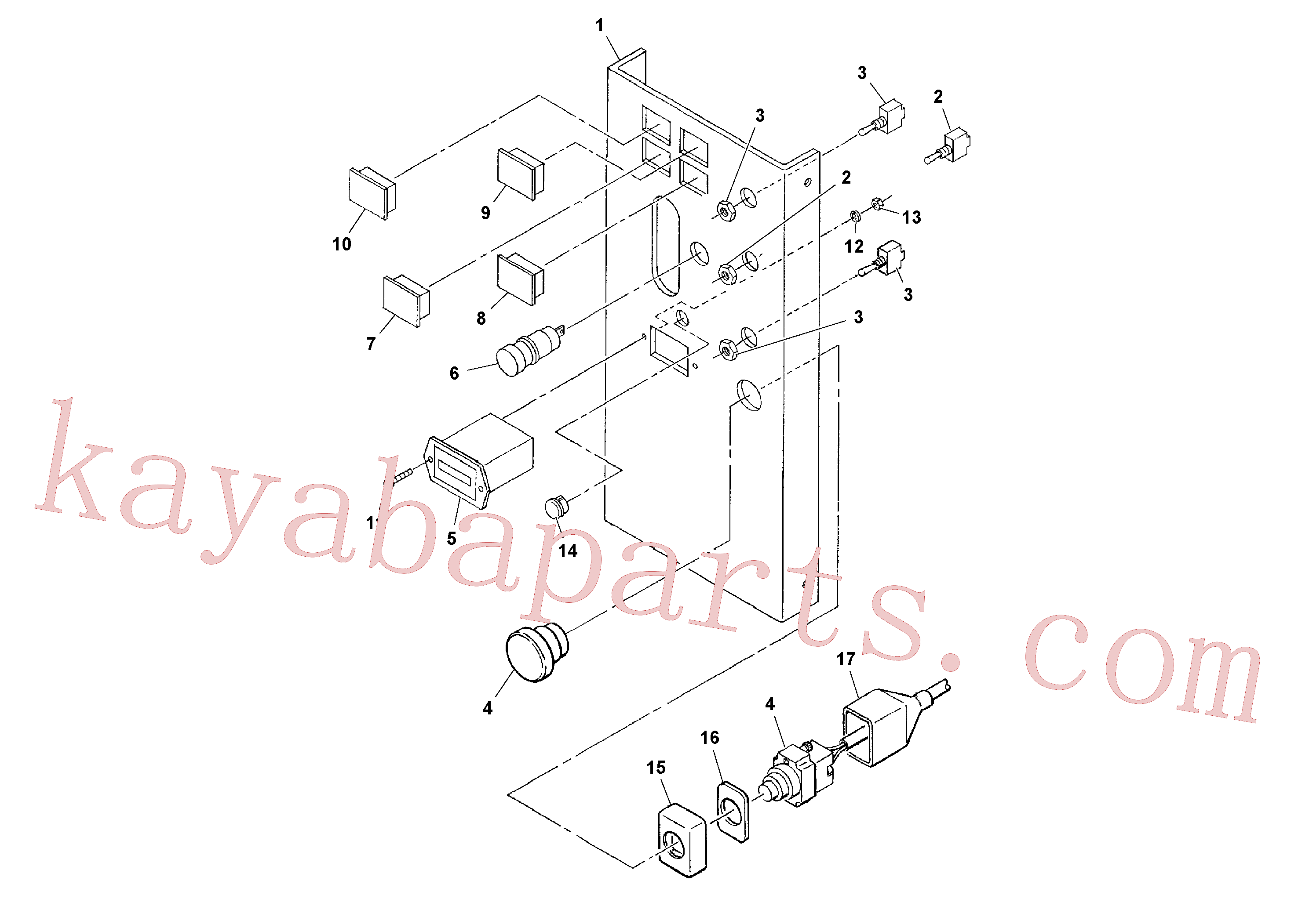 RM59108100 for Volvo Control Panel Assembly(1037097 assembly)