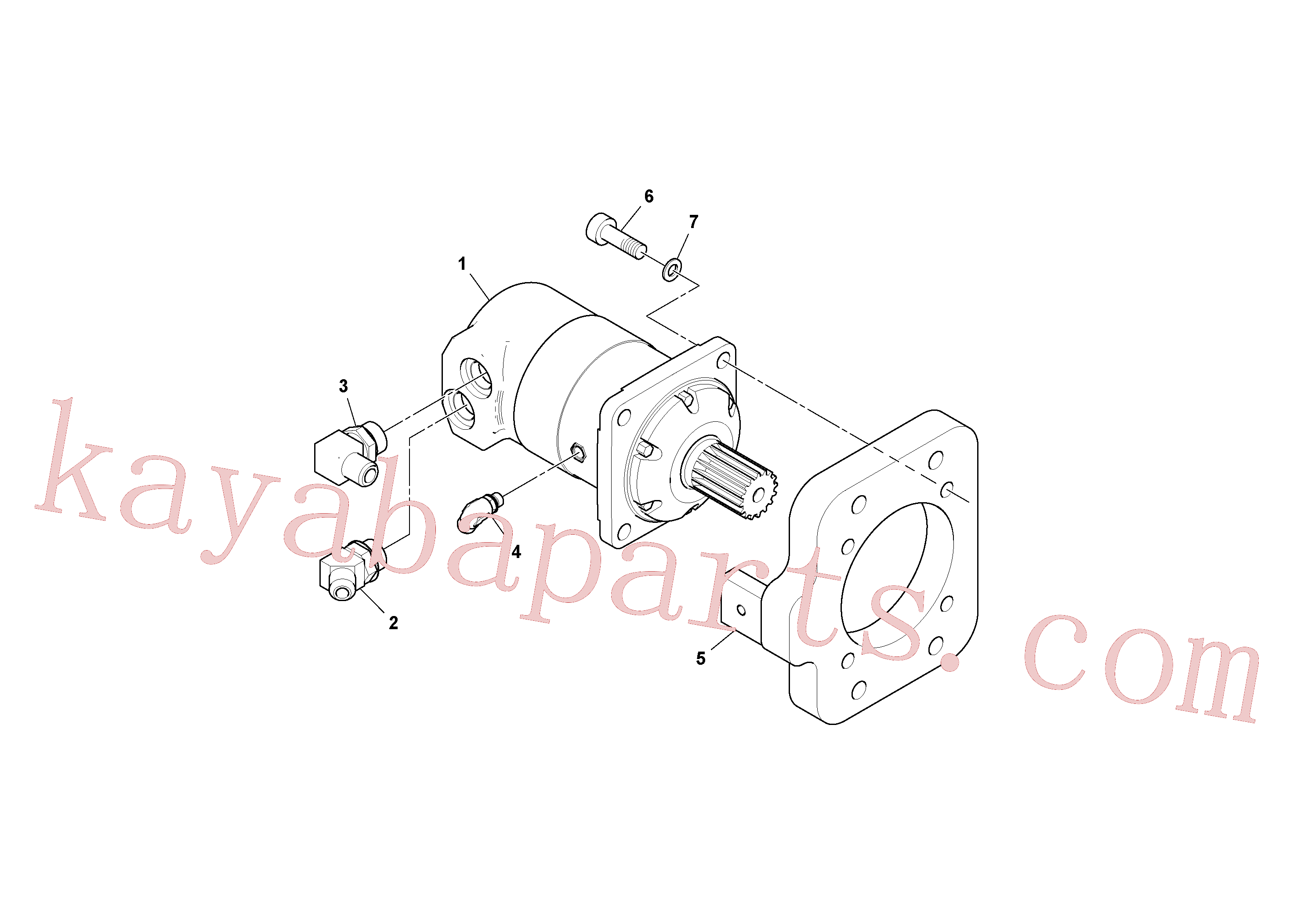 RM43909233 for Volvo Conveyor Motor Assembly(1038493 assembly)