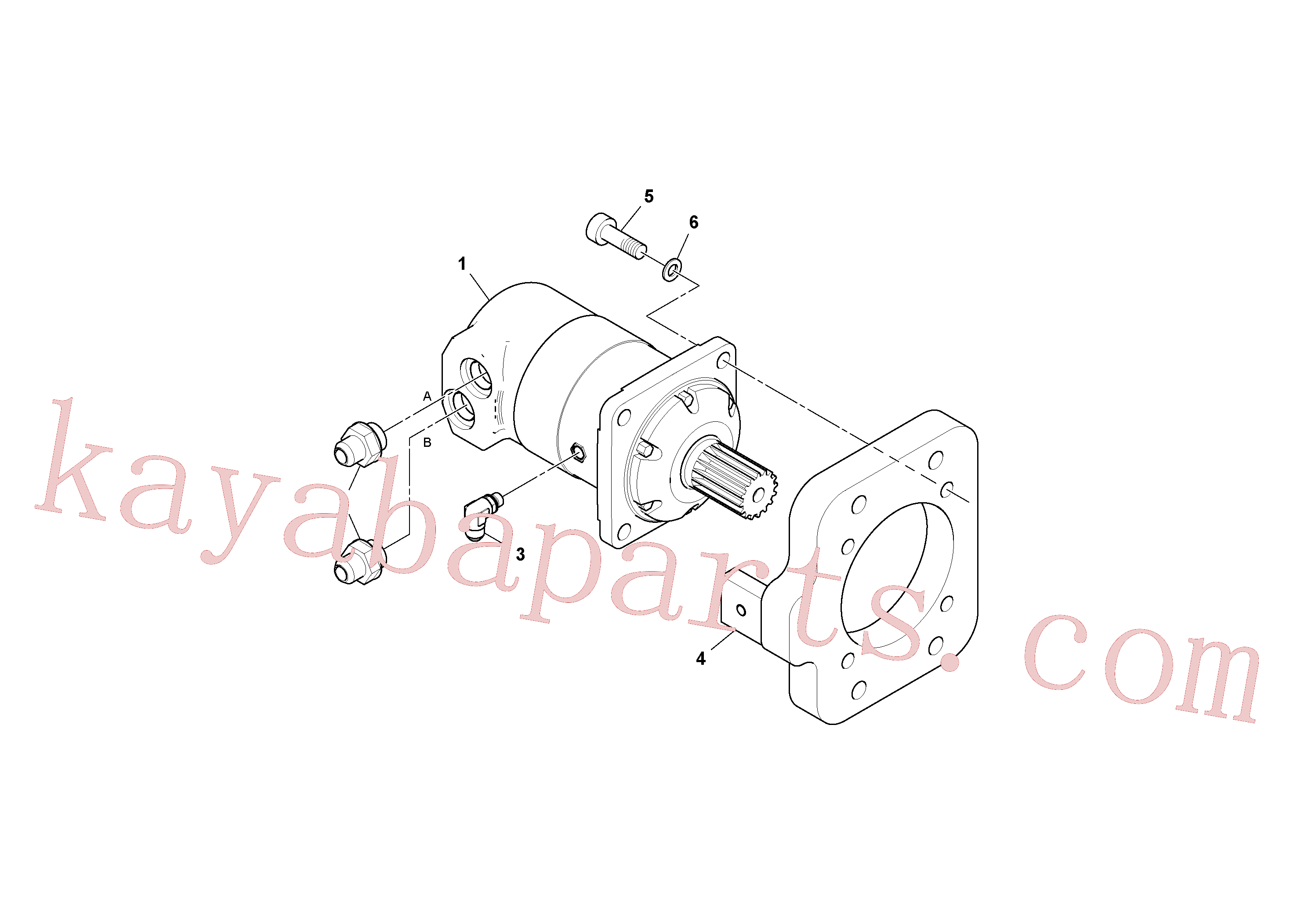 RM43909233 for Volvo Conveyor Motor Assembly(1038494 assembly)