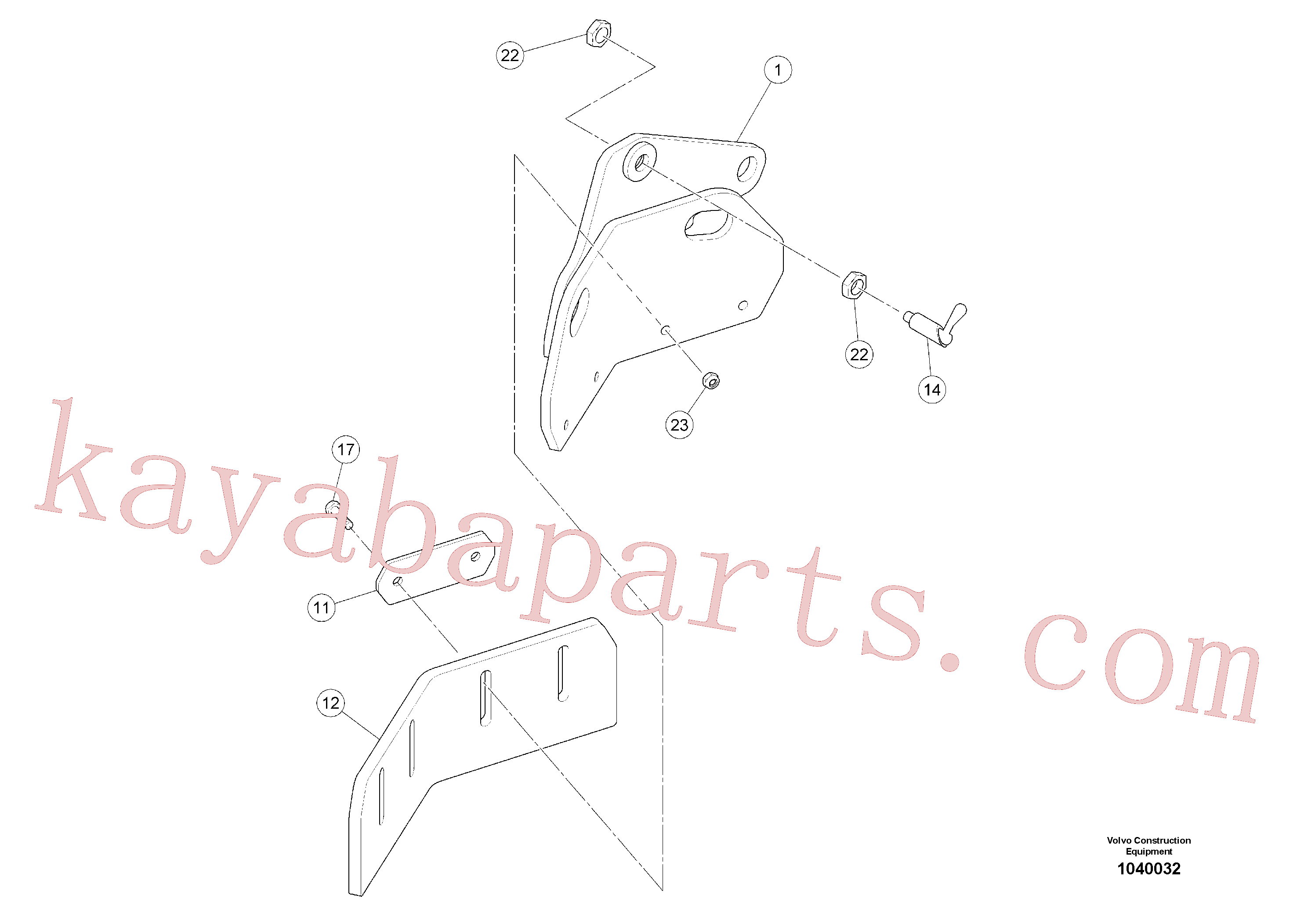 RM58833260 for Volvo Scraper(1040032 assembly)
