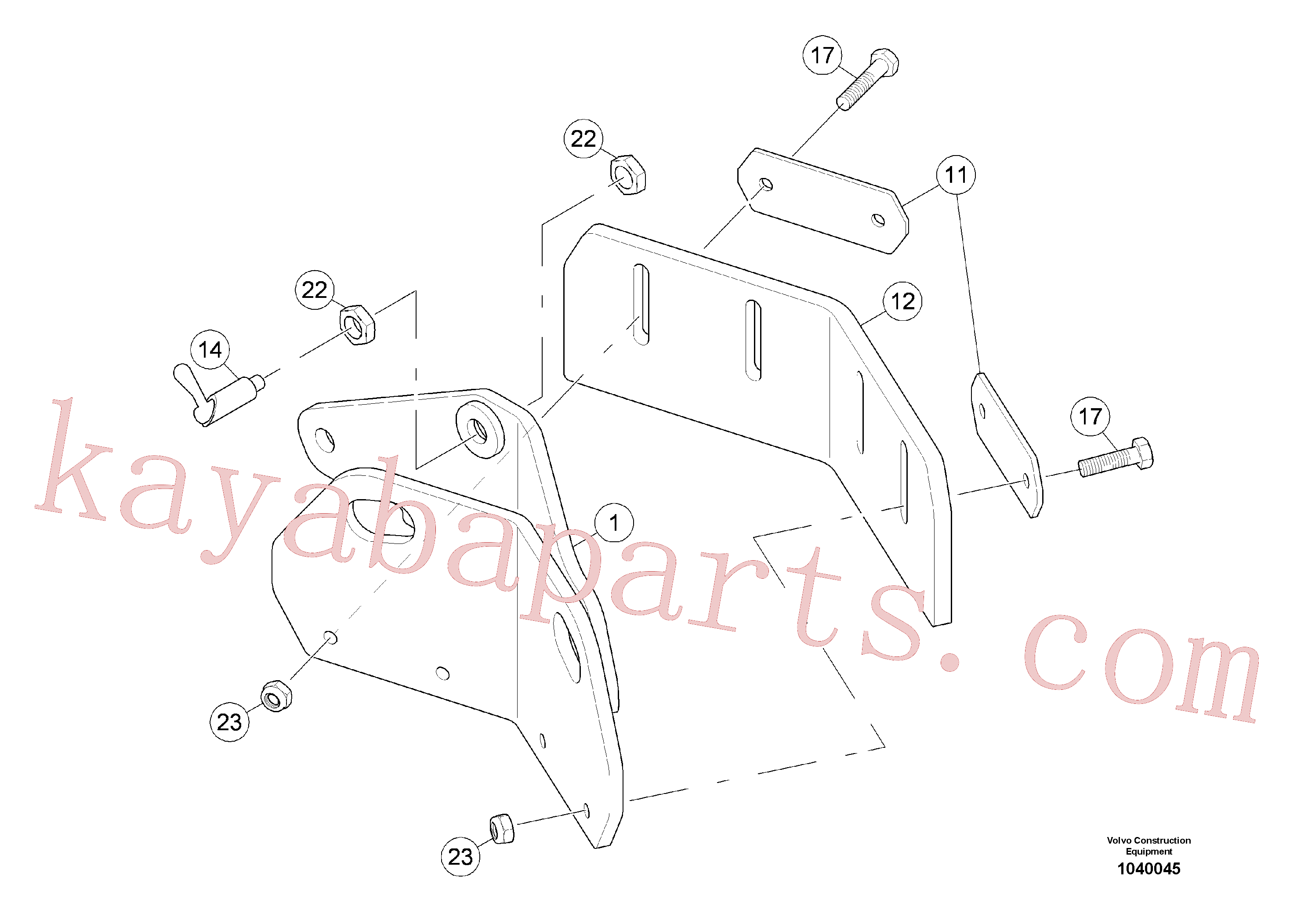 RM58833260 for Volvo Scraper(1040045 assembly)