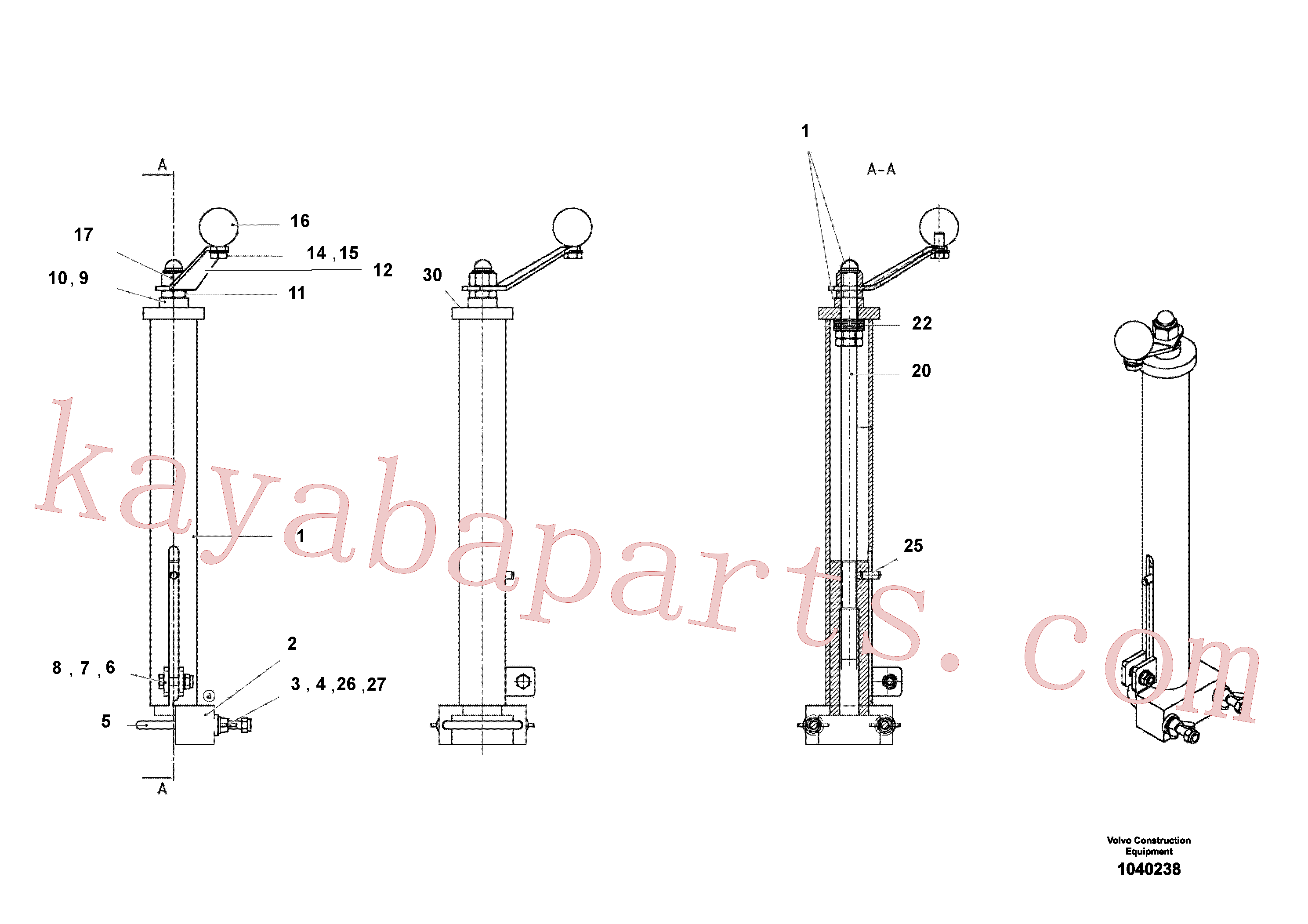 RM14104053 for Volvo Mech Control Assembly(1040238 assembly)