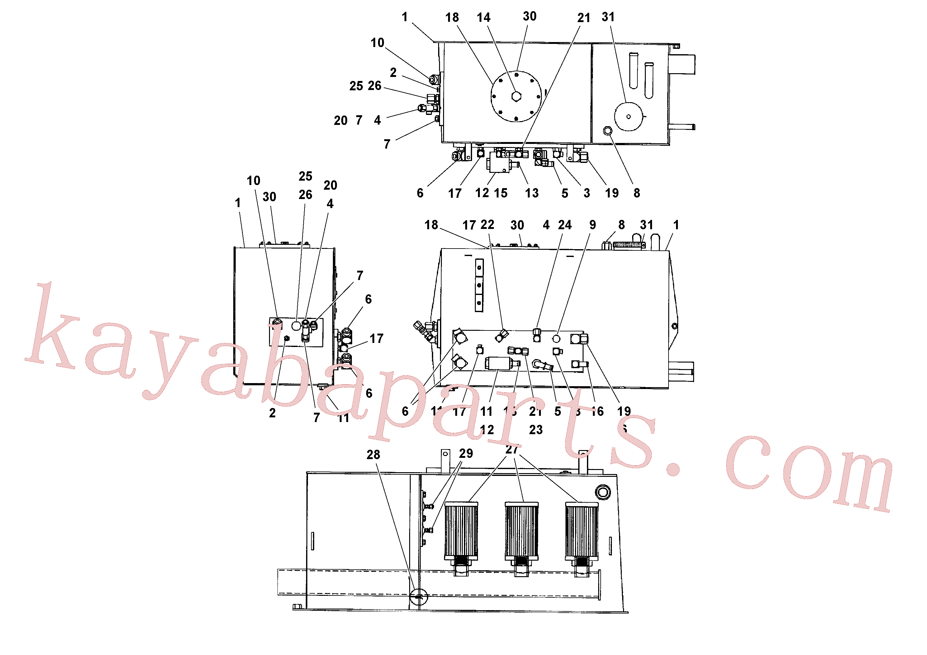 RM59924050 for Volvo Hydraulic Tank Assembly(1041181 assembly)