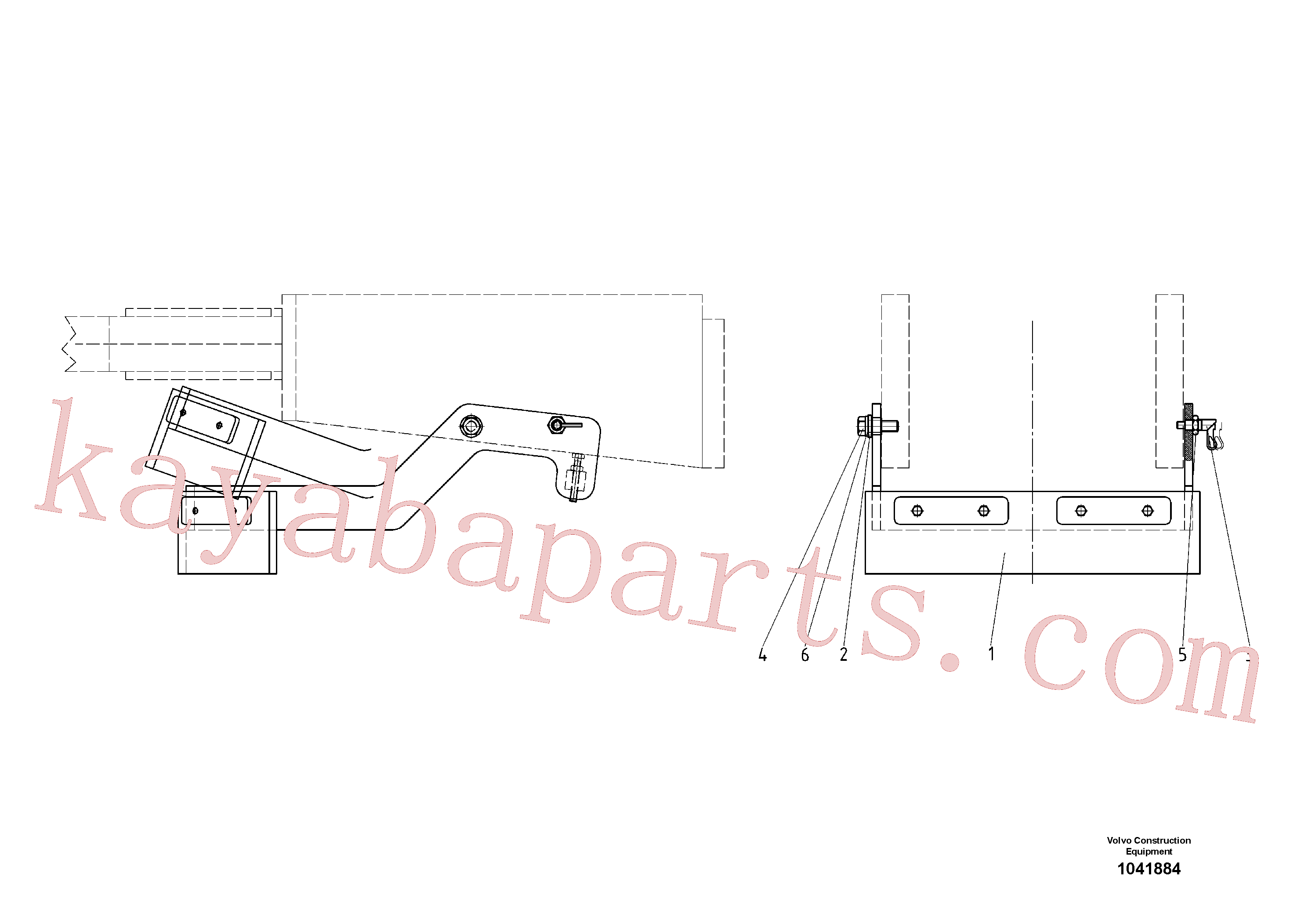 RM58833260 for Volvo Road Scraper(1041884 assembly)
