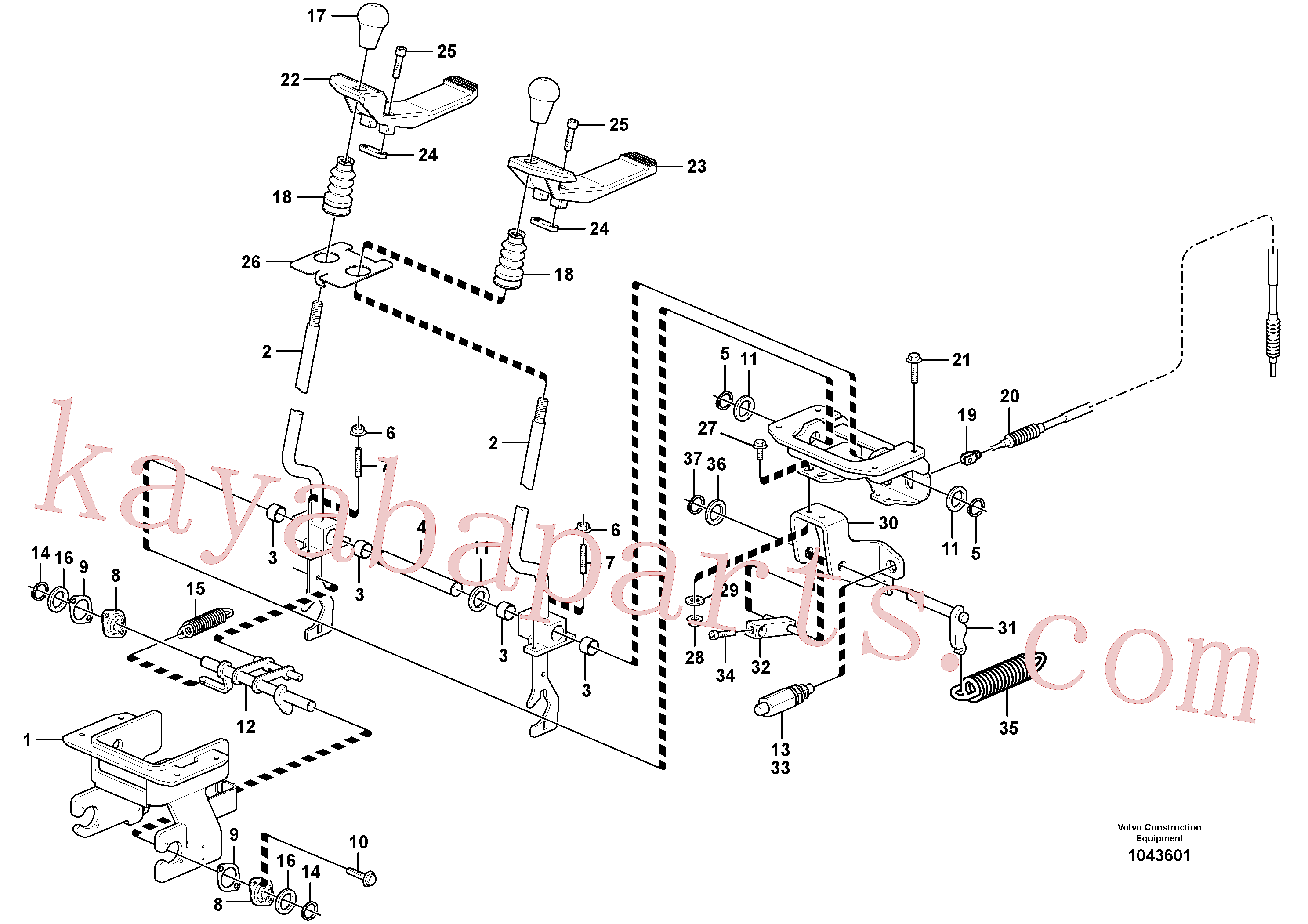 VOE15628348 for Volvo Control levers : travelling(1043601 assembly)