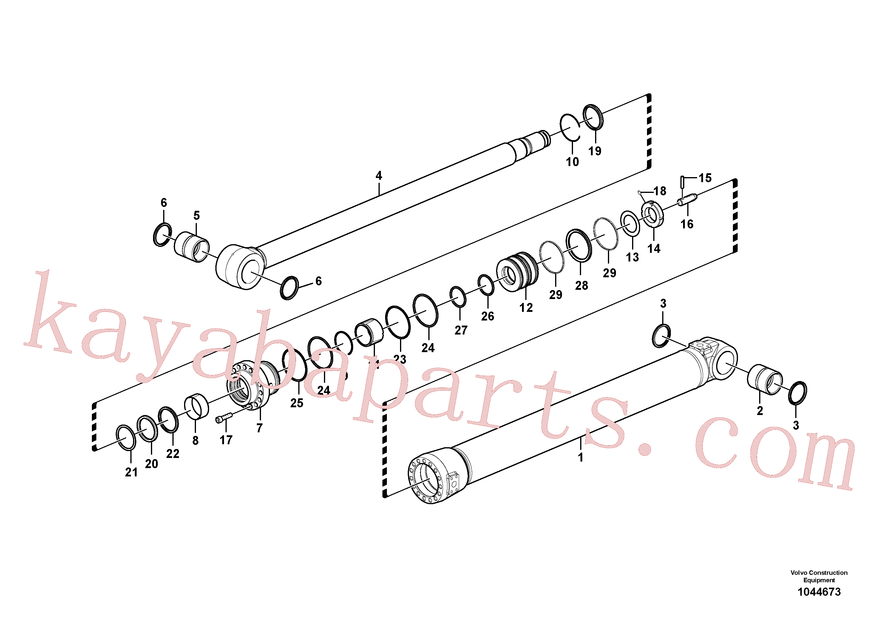 SA9566-31400 for Volvo Dipper arm cylinder(1044673 assembly)