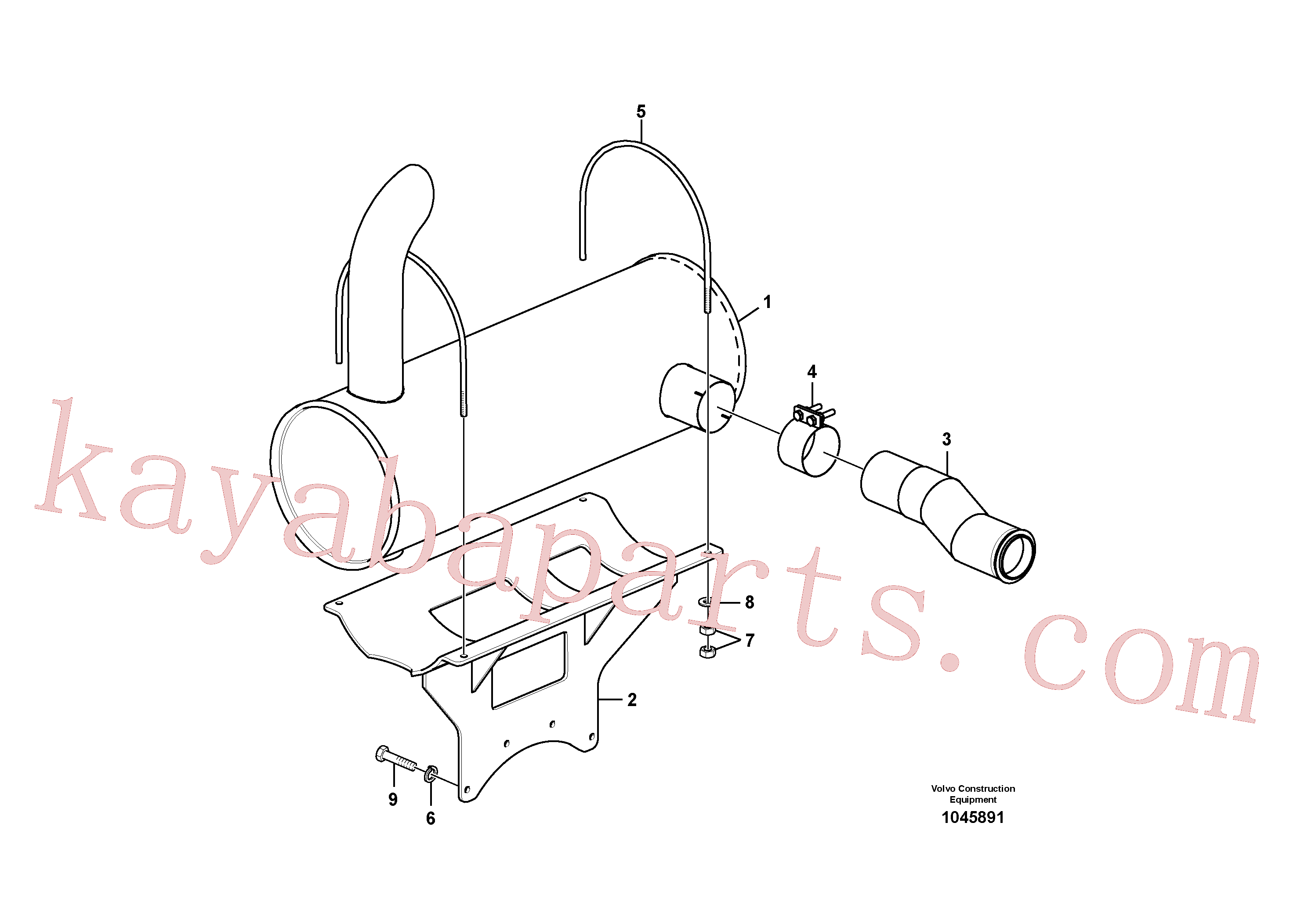 SA9011-21009 for Volvo Exhaust system(1045891 assembly)