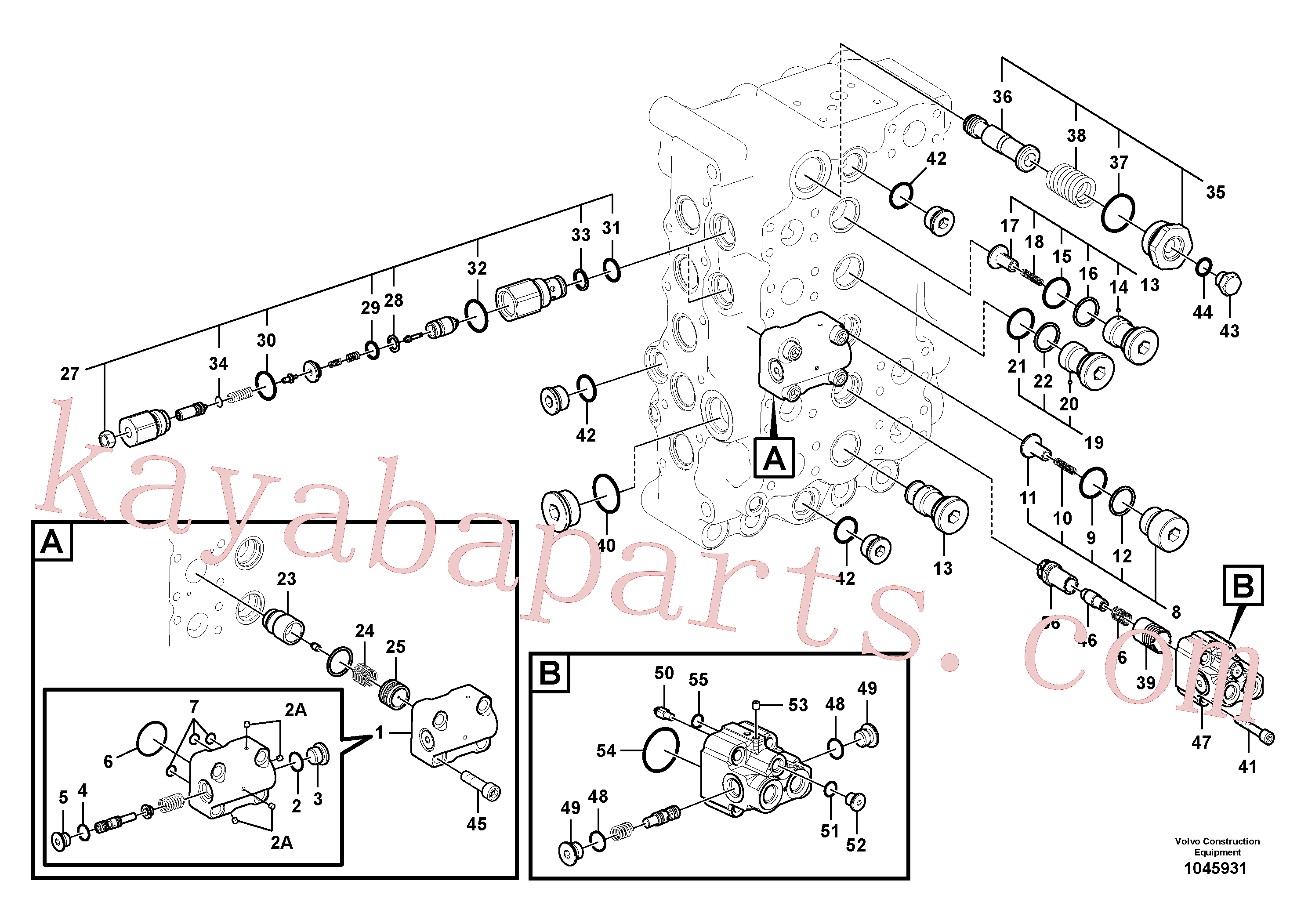 VOE14513949 for Volvo Main control valve(1045931 assembly)