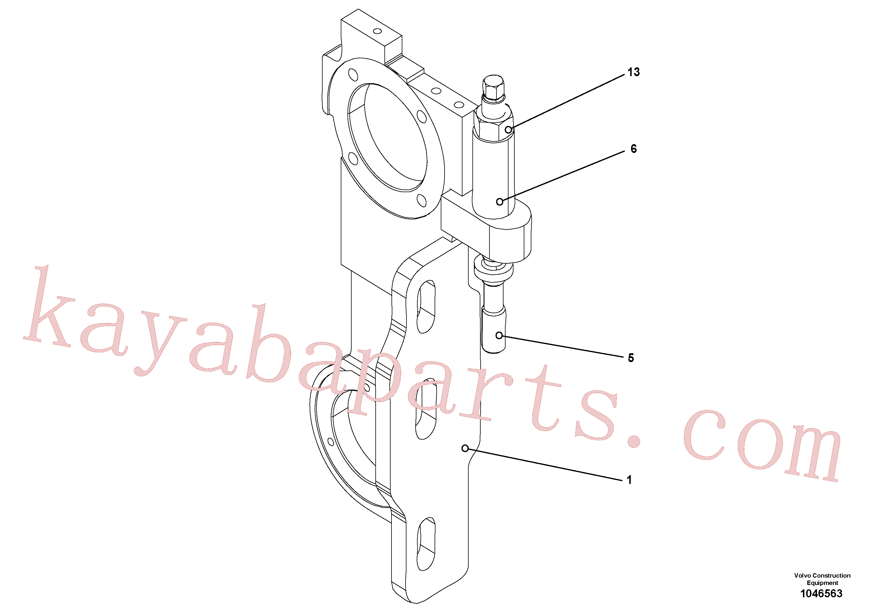 RM56294747 for Volvo Mechanical screed holder for extandable screed, Mechanical screed holder for extendable screed(1046563 assembly)