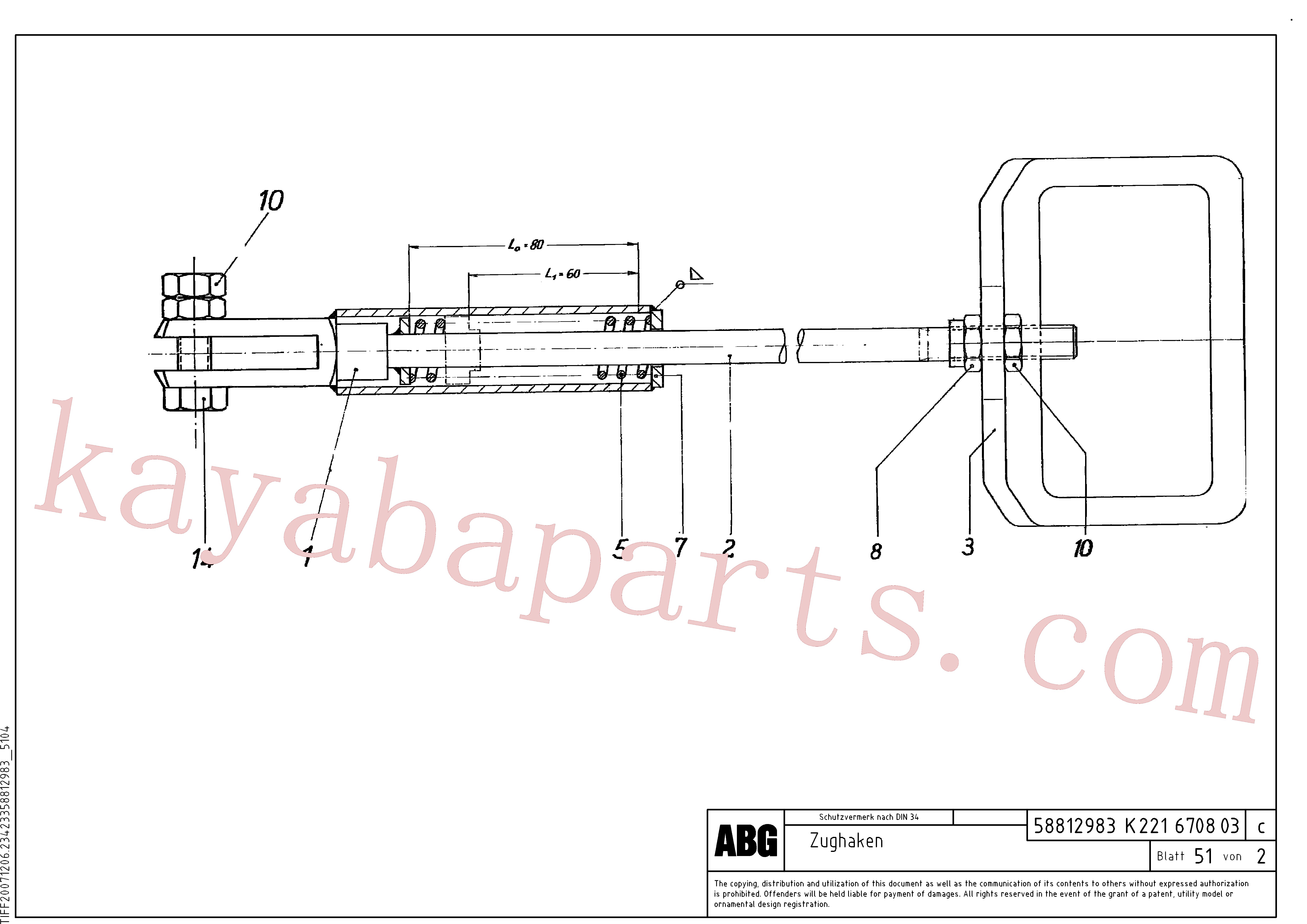 RM14384002 for Volvo Anchor, Tow hook(1046944 assembly)