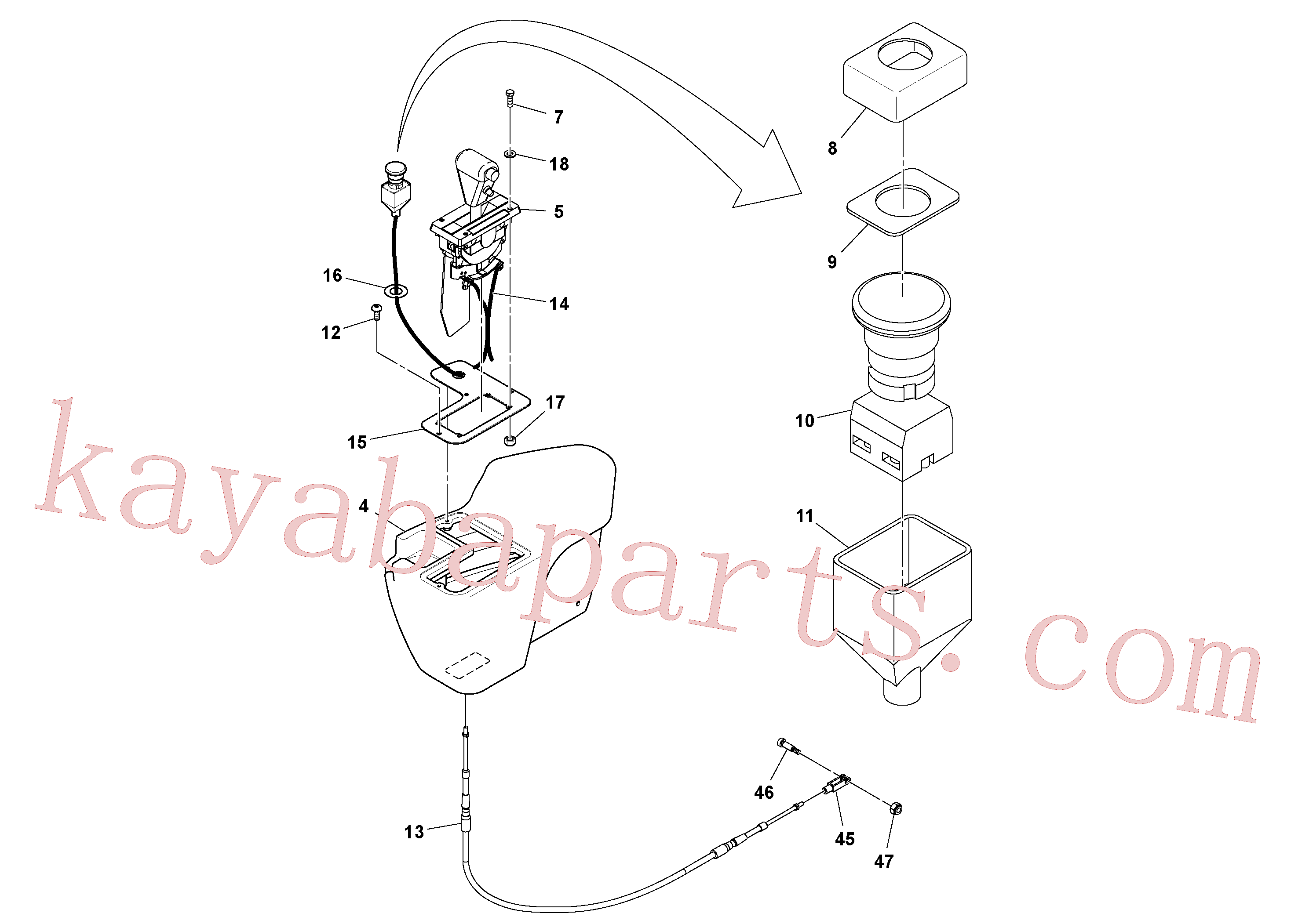 RM96704580 for Volvo Cab Assembly, Operator's Platform Installation(1048580 assembly)