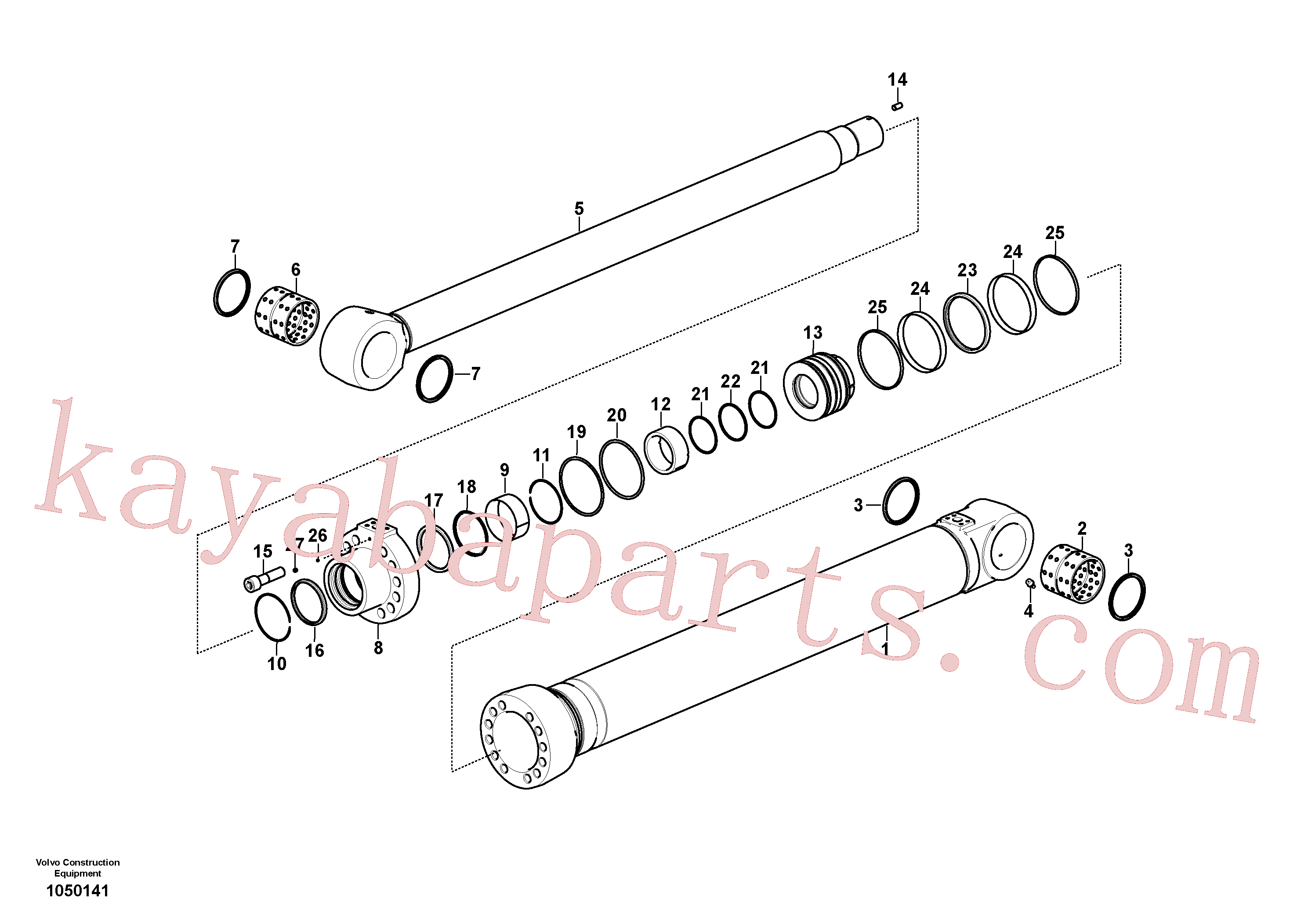 VOE14588979 for Volvo Boom cylinder(1050141 assembly)