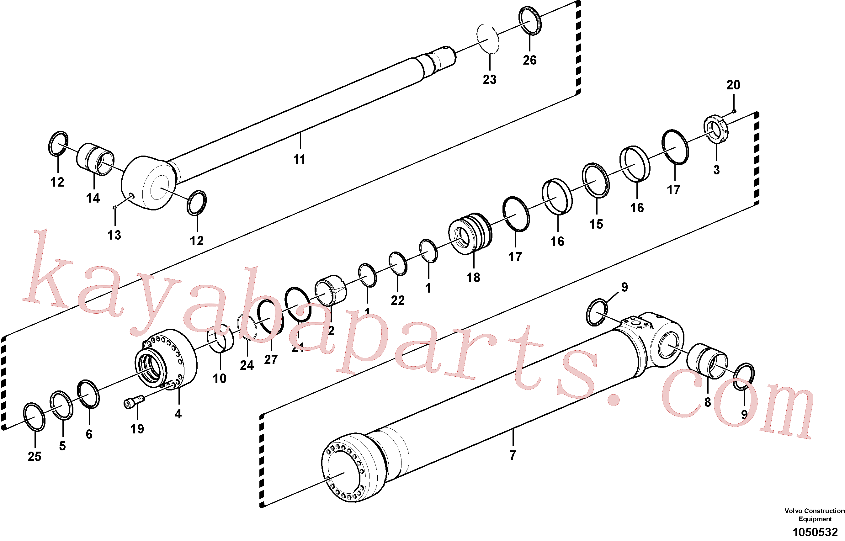 VOE14882741 for Volvo Bucket cylinder(1050532 assembly)