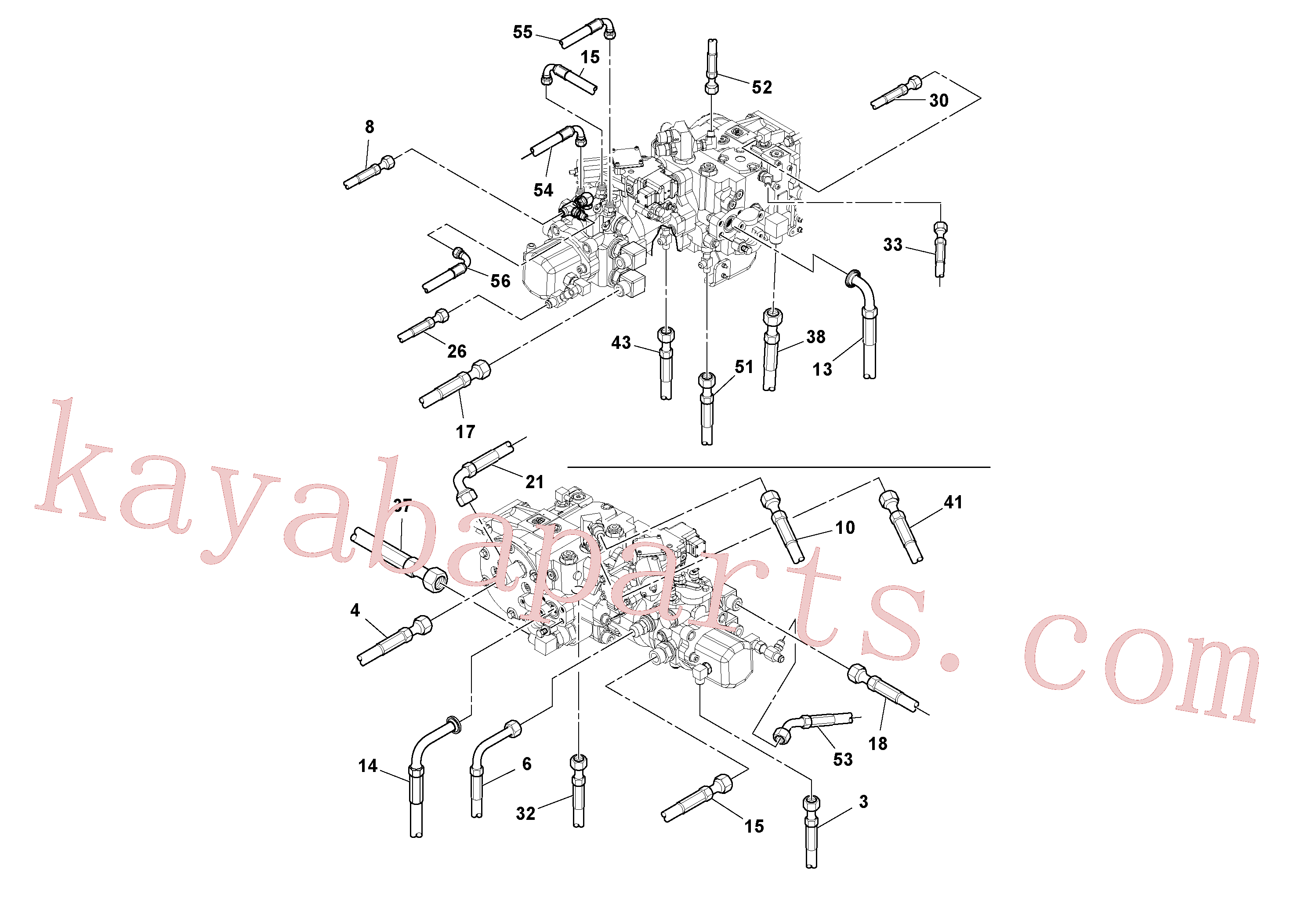 RM13106497 for Volvo Rear Frame Hoses Installation(1051269 assembly)