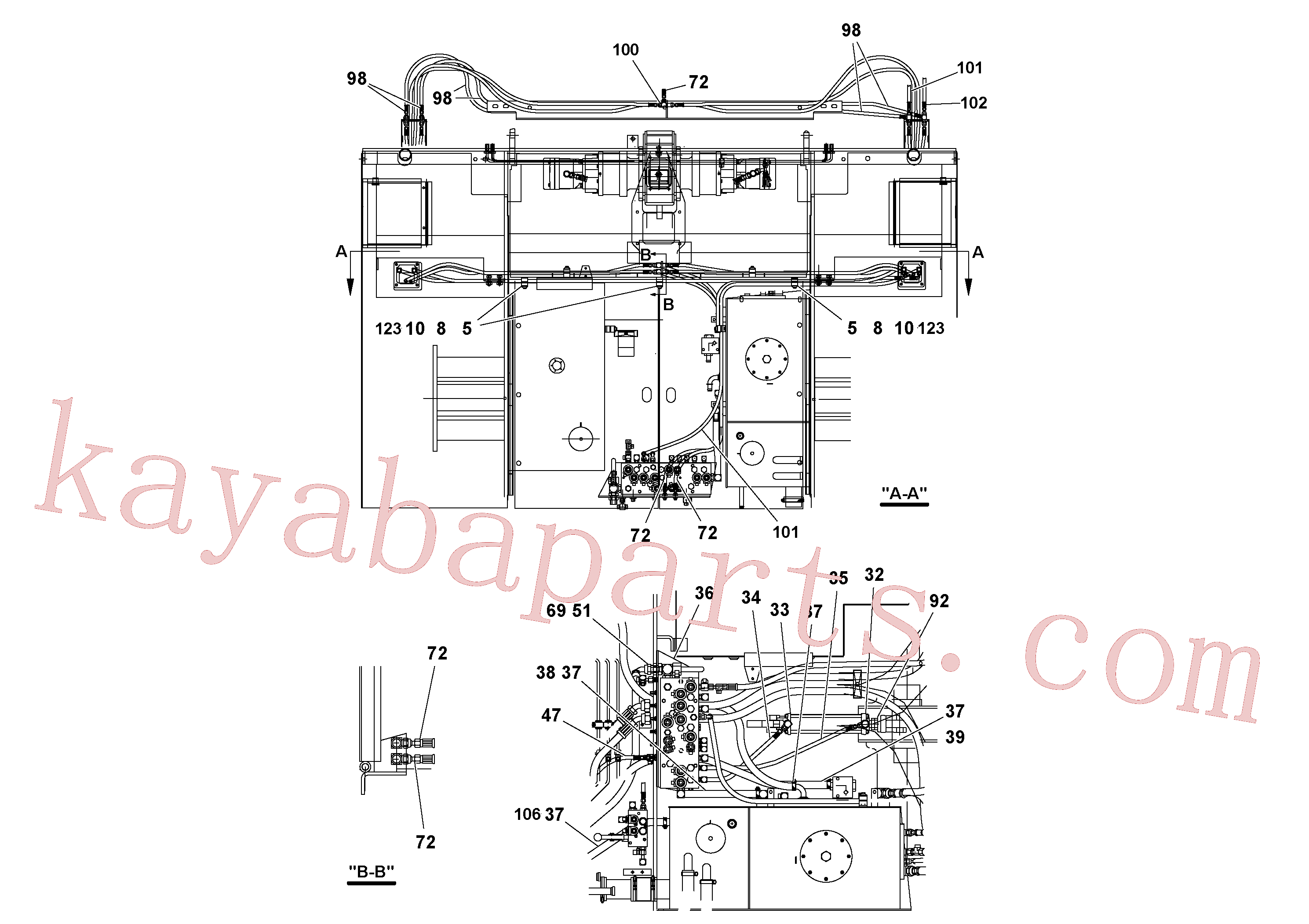 VOE937097 for Volvo Hydraulic installation(1052142 assembly)