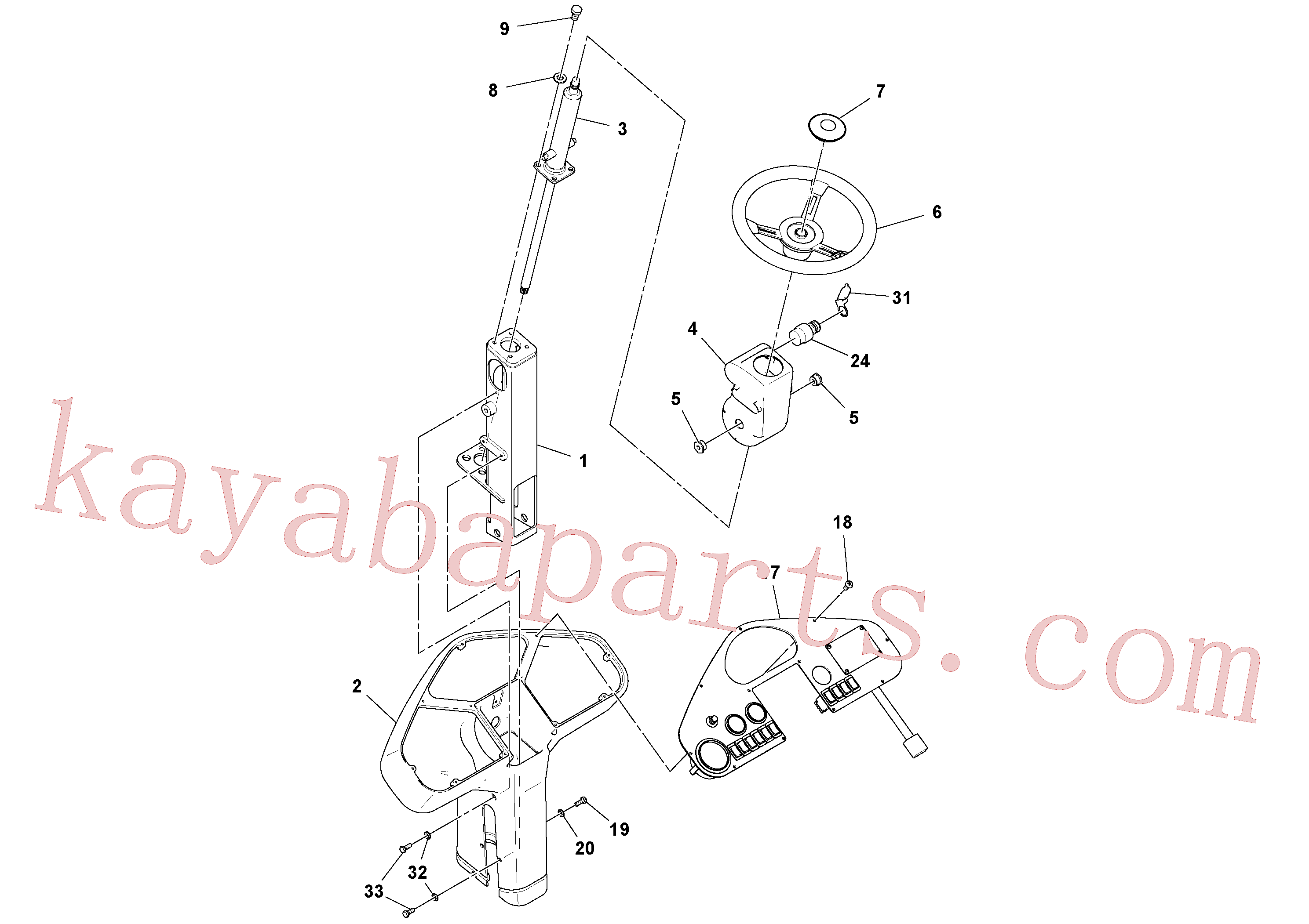RM96701958 for Volvo Pedestal Assembly(1052435 assembly)