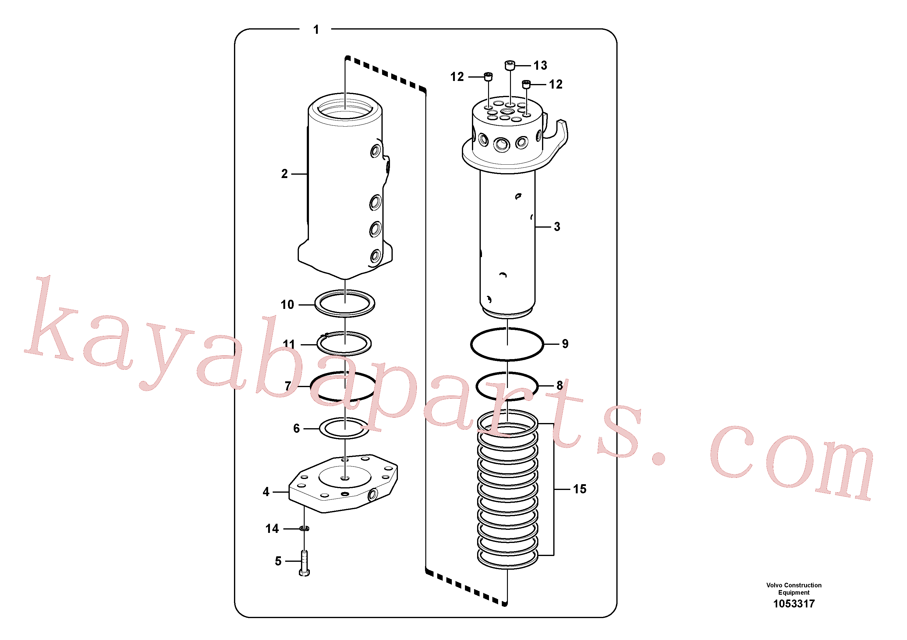 VOE990638 for Volvo Turning joint(1053317 assembly)