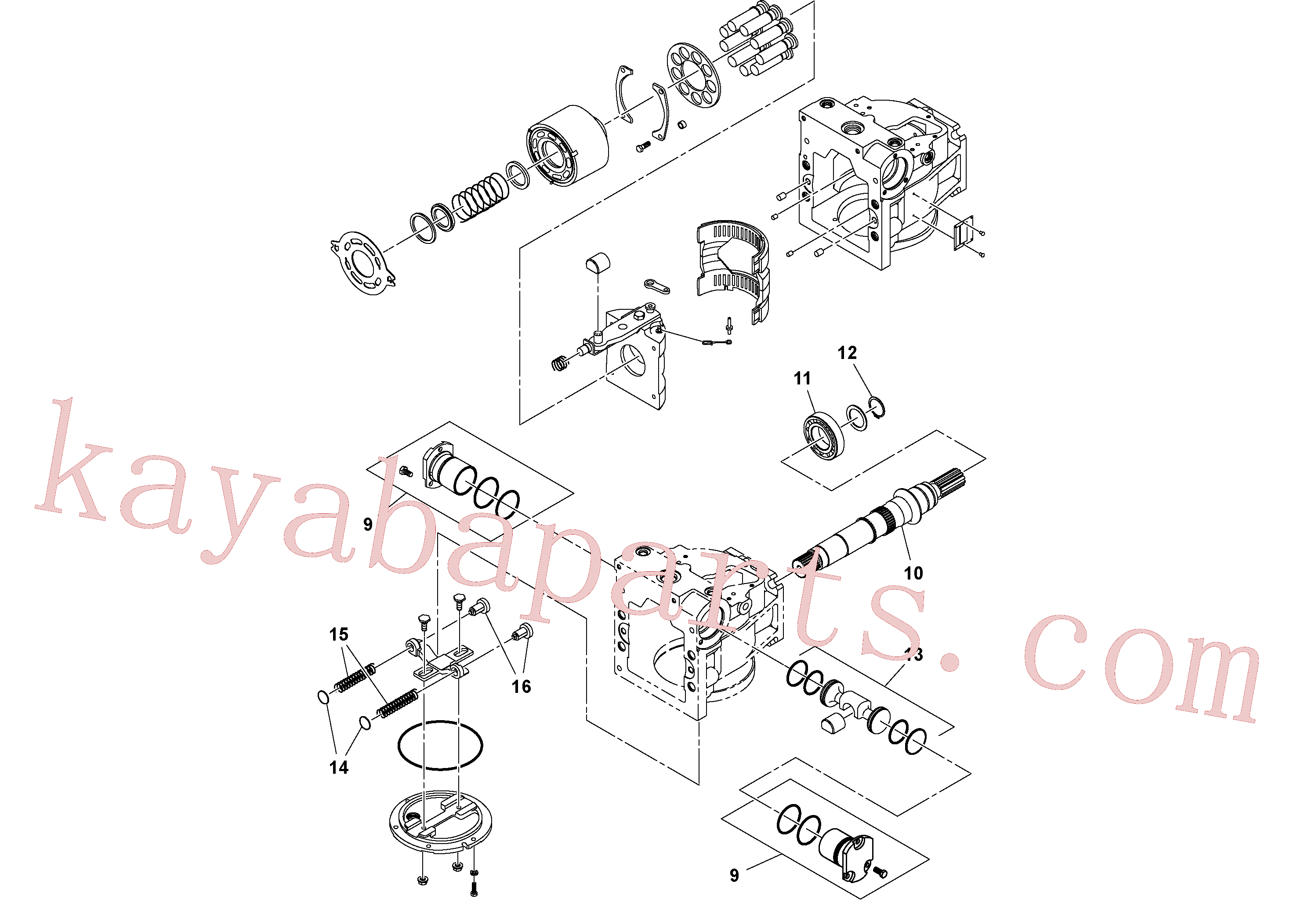 RM13790969 for Volvo Hydraulic pump(1053625 assembly)