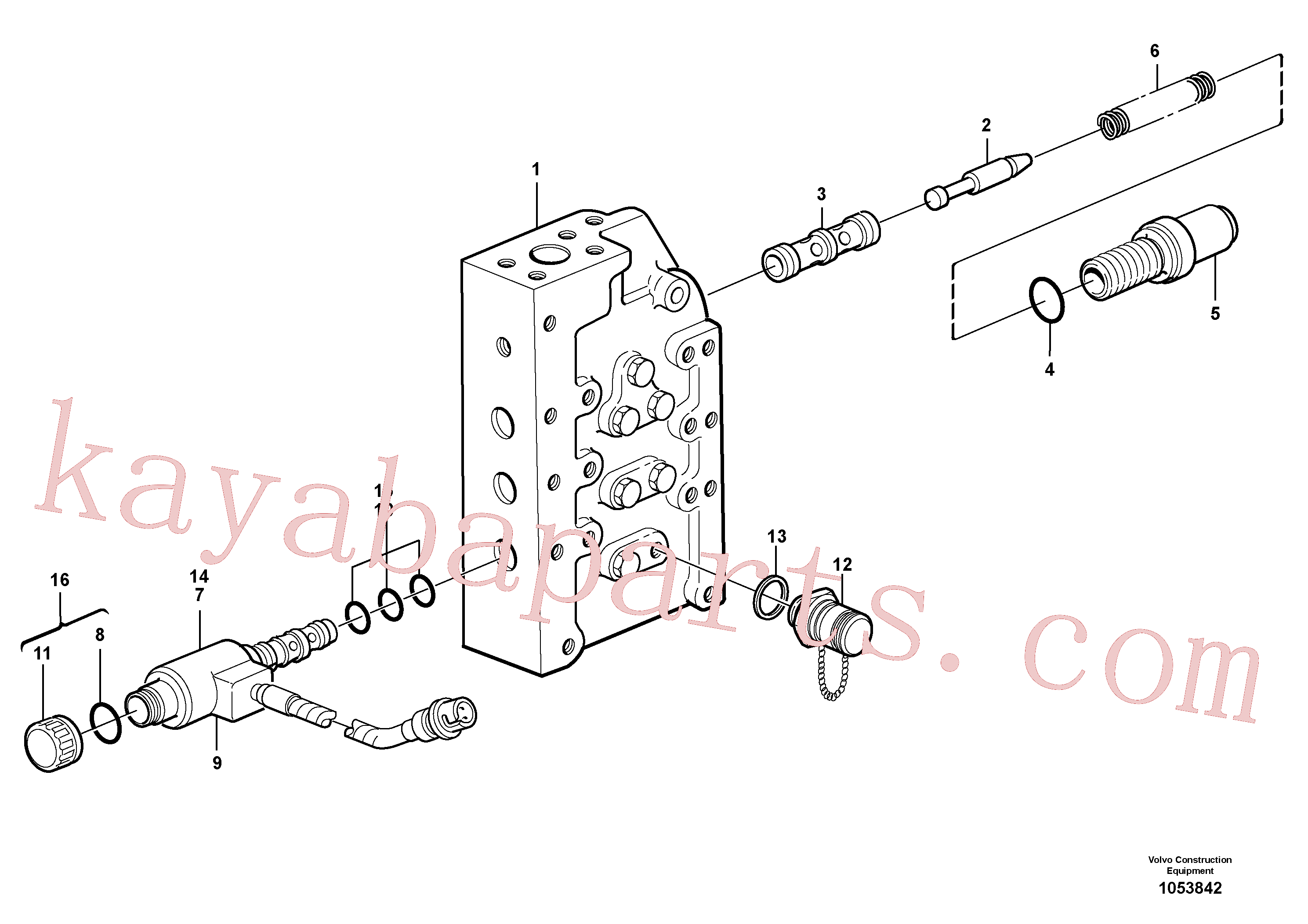 VOE15159904 for Volvo Gear selector valve(1053842 assembly)