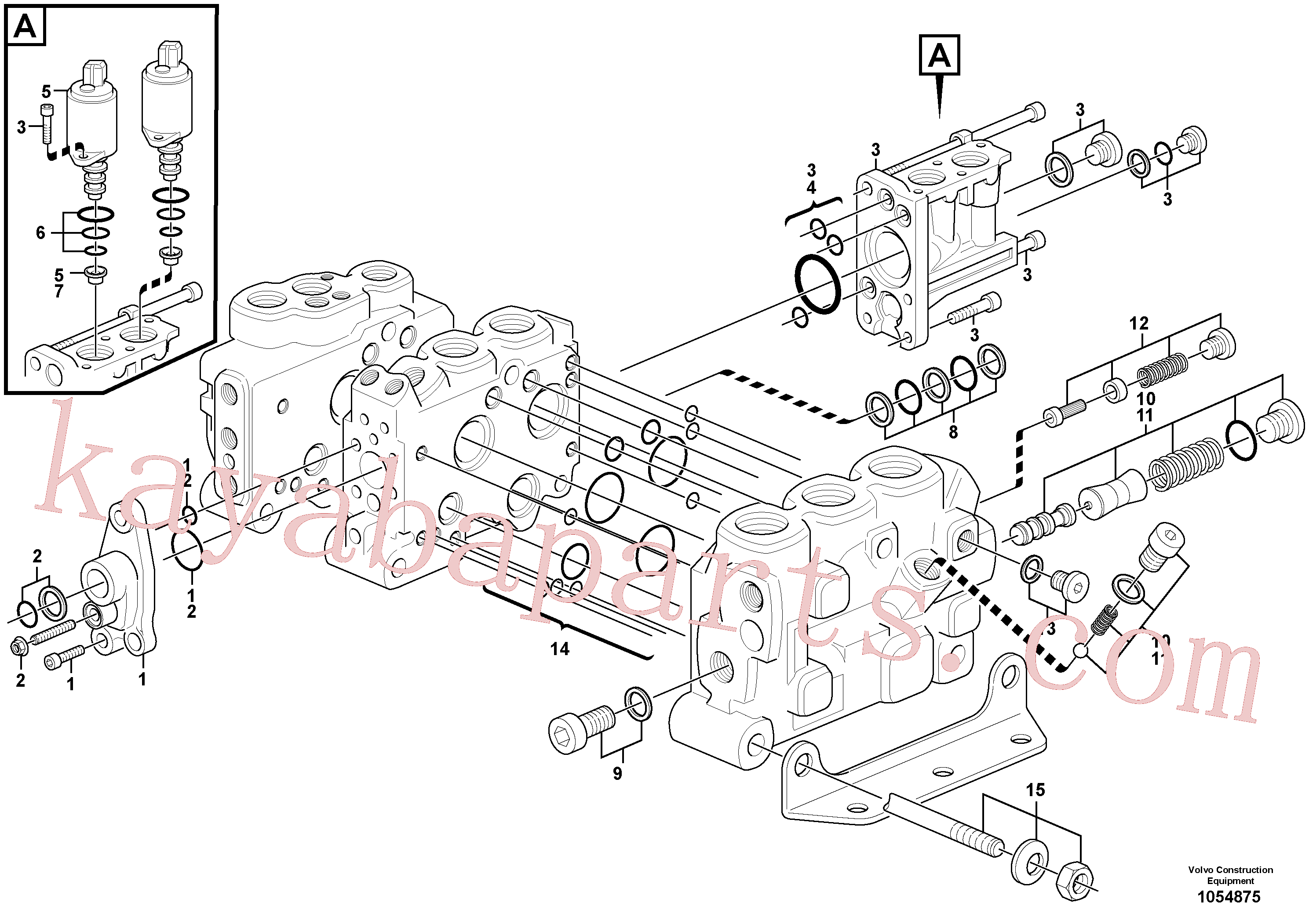 VOE15183468 for Volvo Control valve(1054875 assembly)