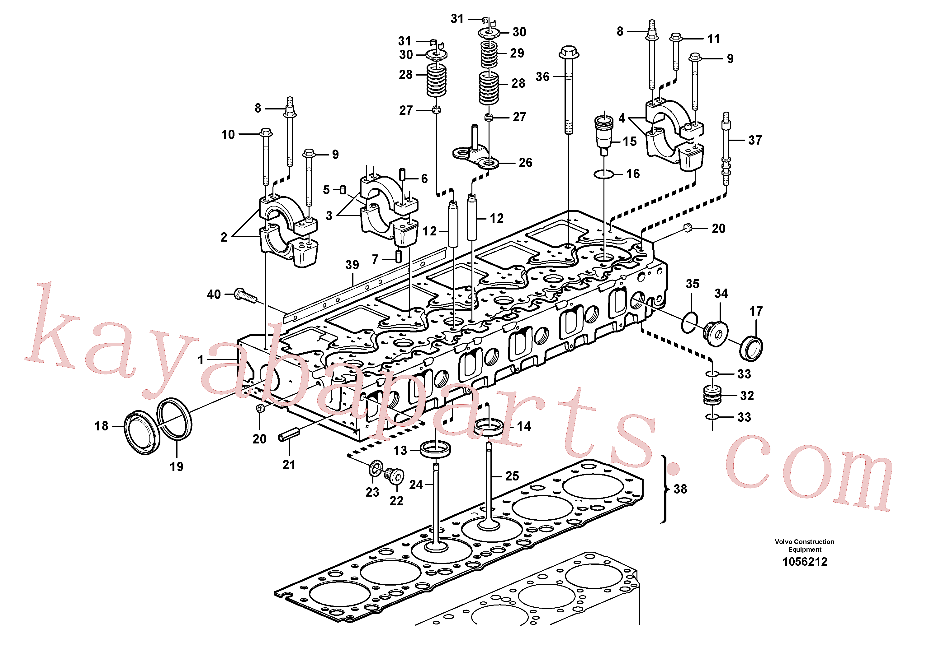 VOE990830 for Volvo Cylinder head(1056212 assembly)