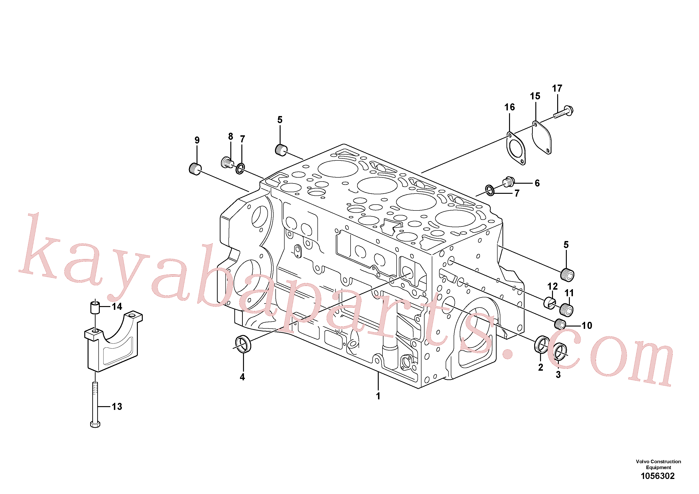 VOE945065 for Volvo Cylinder block(1056302 assembly)
