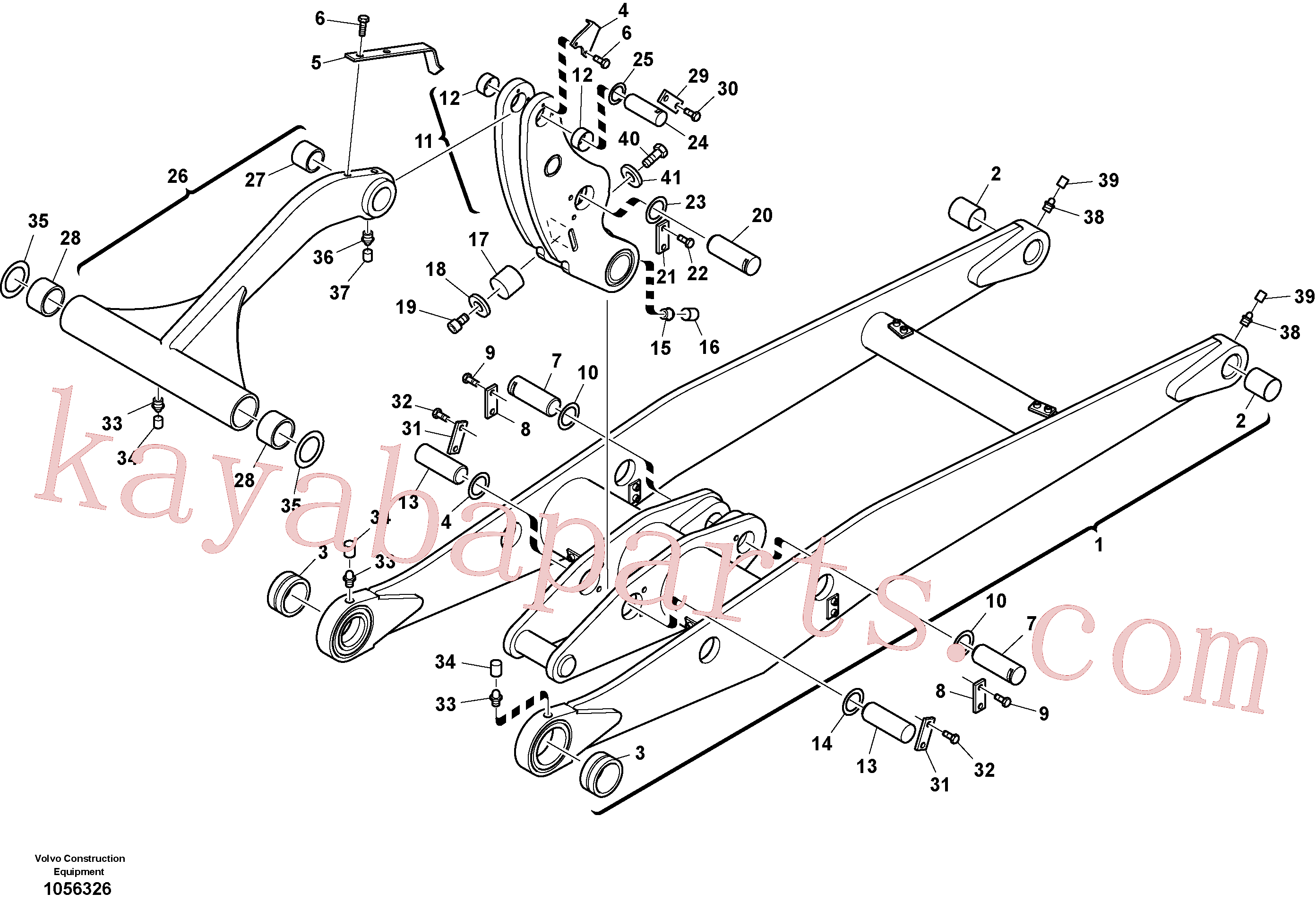 VOE11305012 for Volvo Lifting framework with assembly parts(1056326 assembly)