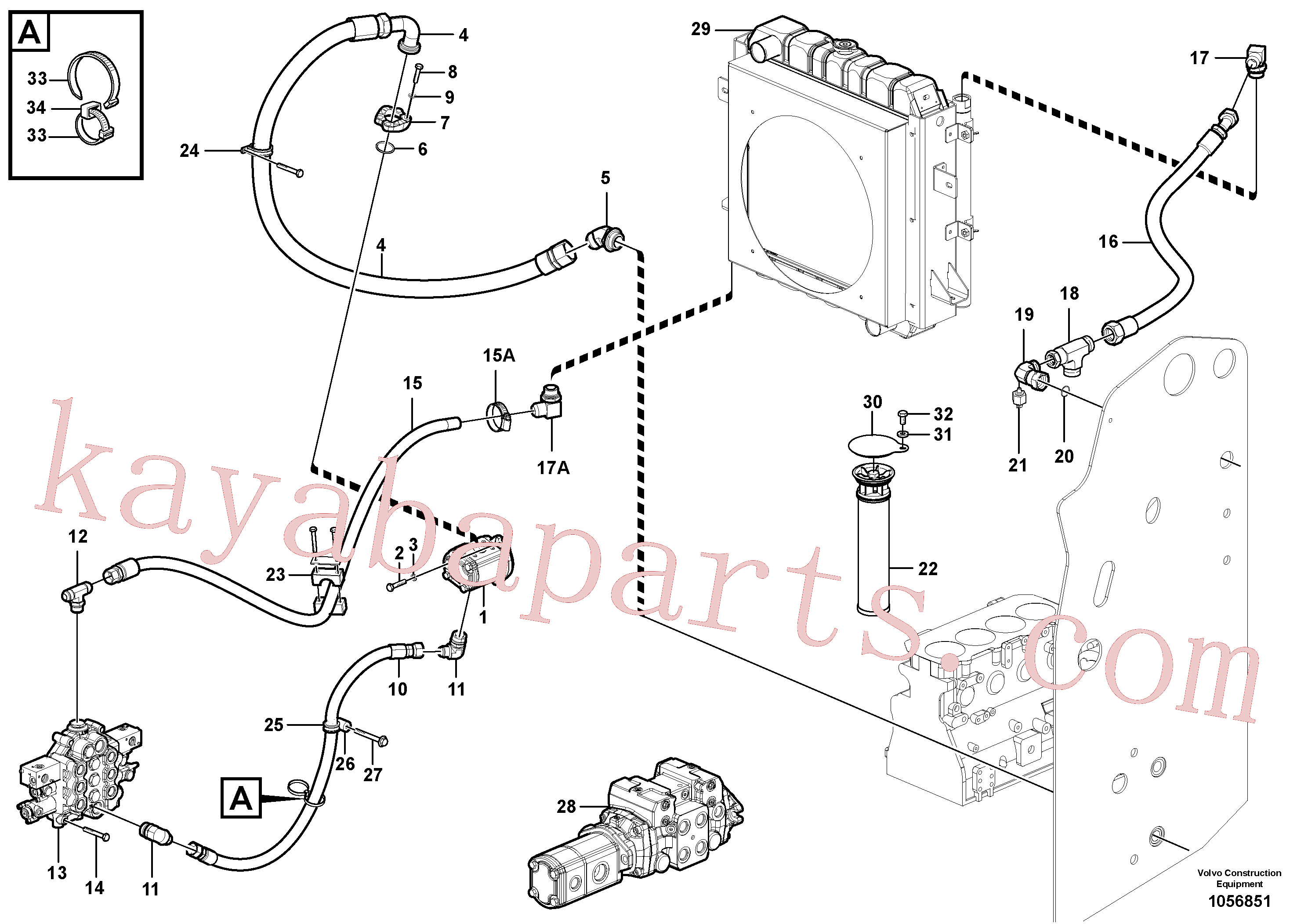 VOE941909 for Volvo Supply/return and Cooling Circuits(1056851 assembly)