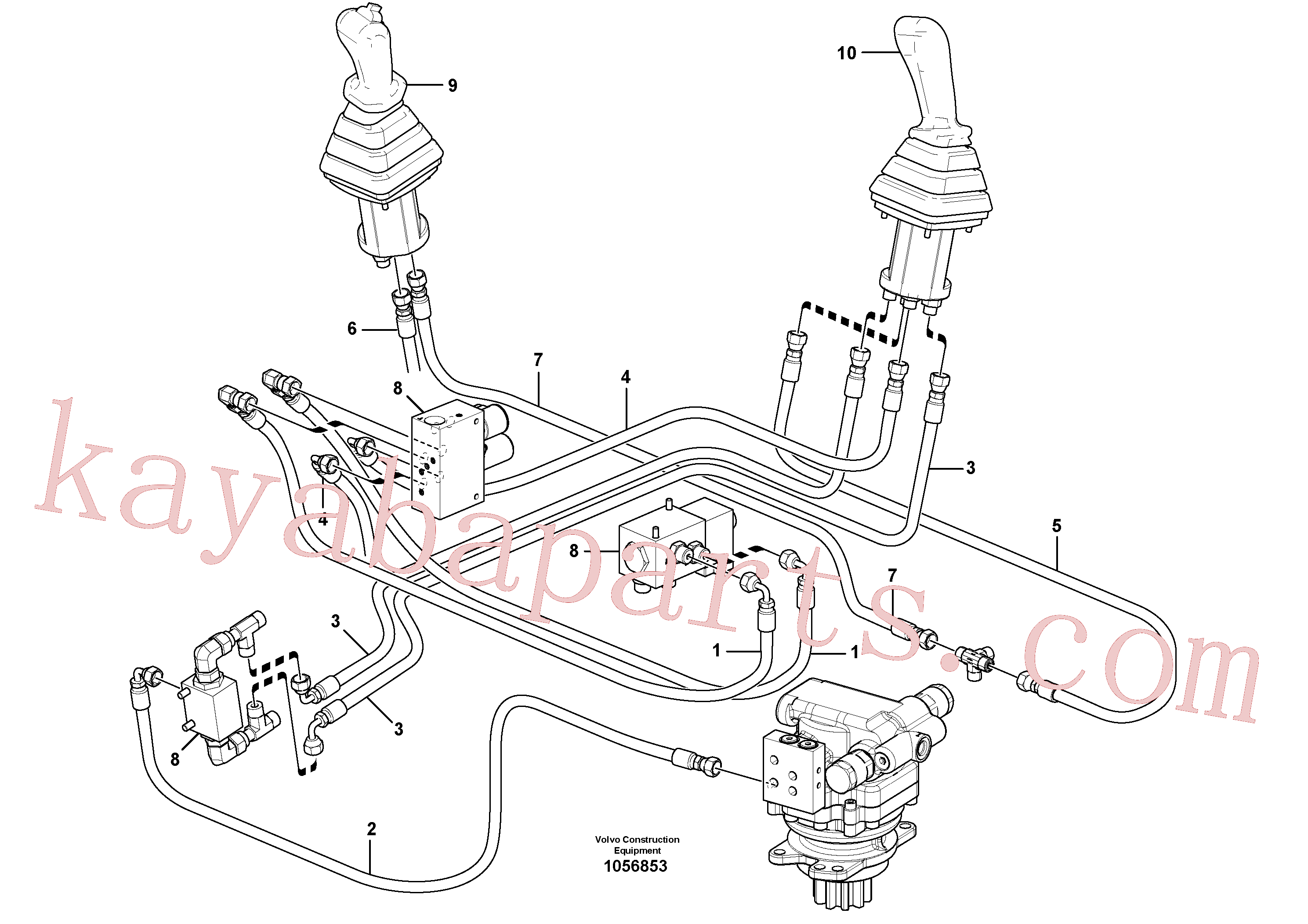 VOE936815 for Volvo Hydraulic circuit ( low pressure )(1056853 assembly)