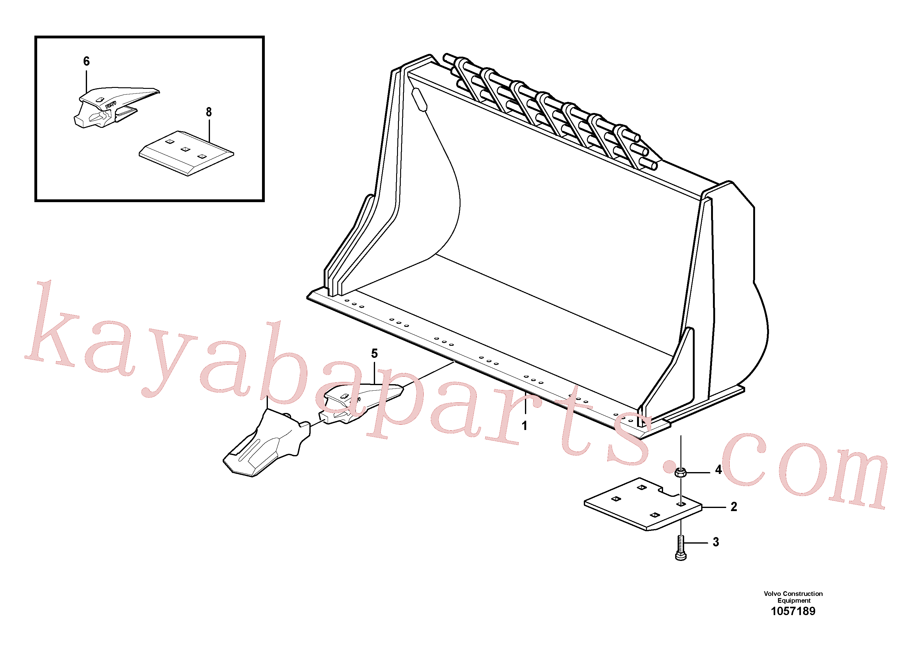 VOE13948902 for Volvo Bucket, straight with teeth(1057189 assembly)