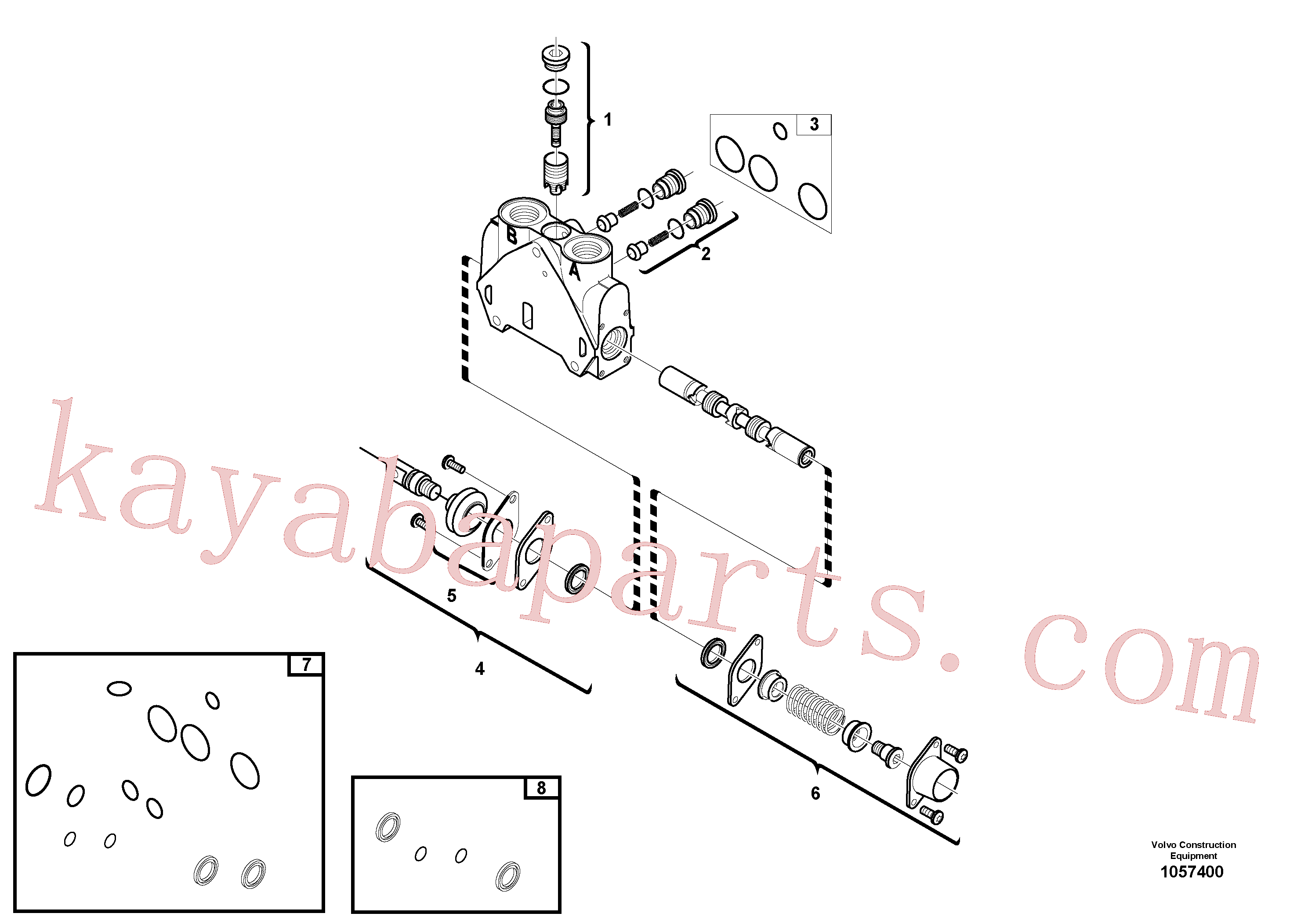 VOE15171847 for Volvo Valve section(1057400 assembly)