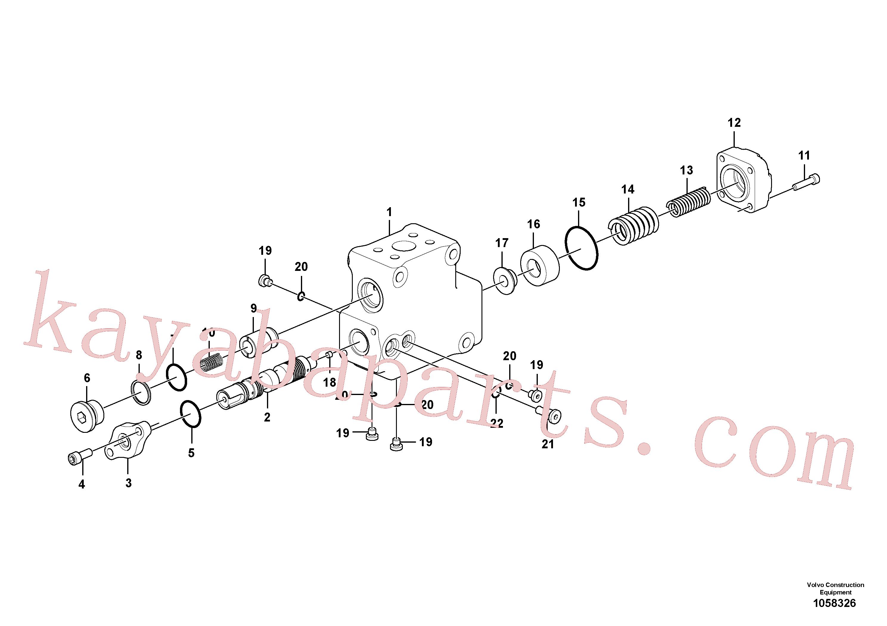 VOE994025 for Volvo Valve, float position(1058326 assembly)